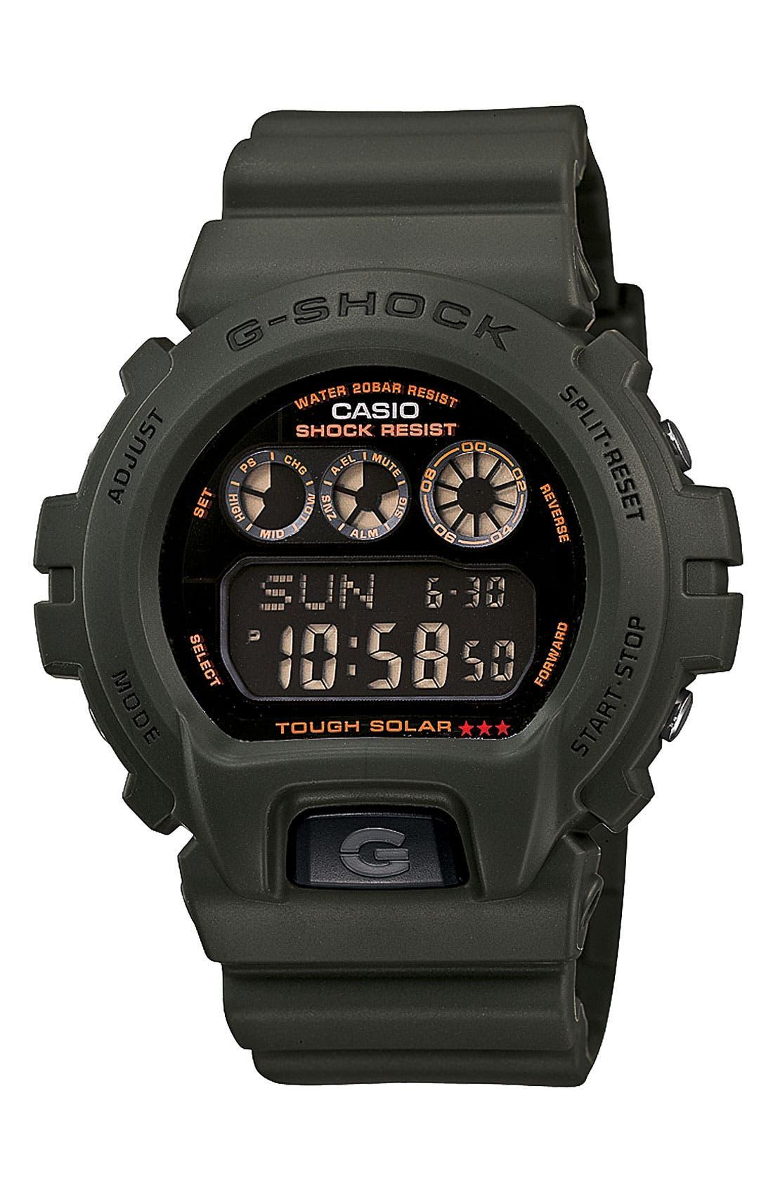 Alternate Image 1 Selected - G-Shock 'Solar' Digital Watch, 46mm x 43mm