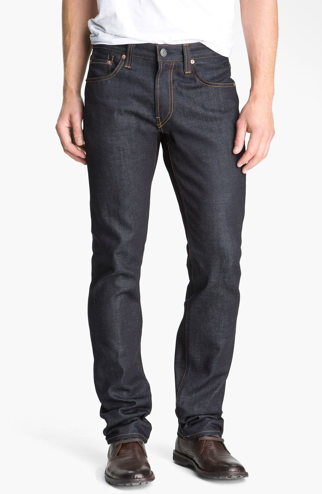 Alternate Image 1 Selected - J Brand Kane Slim Straight Leg Jeans (Raw)