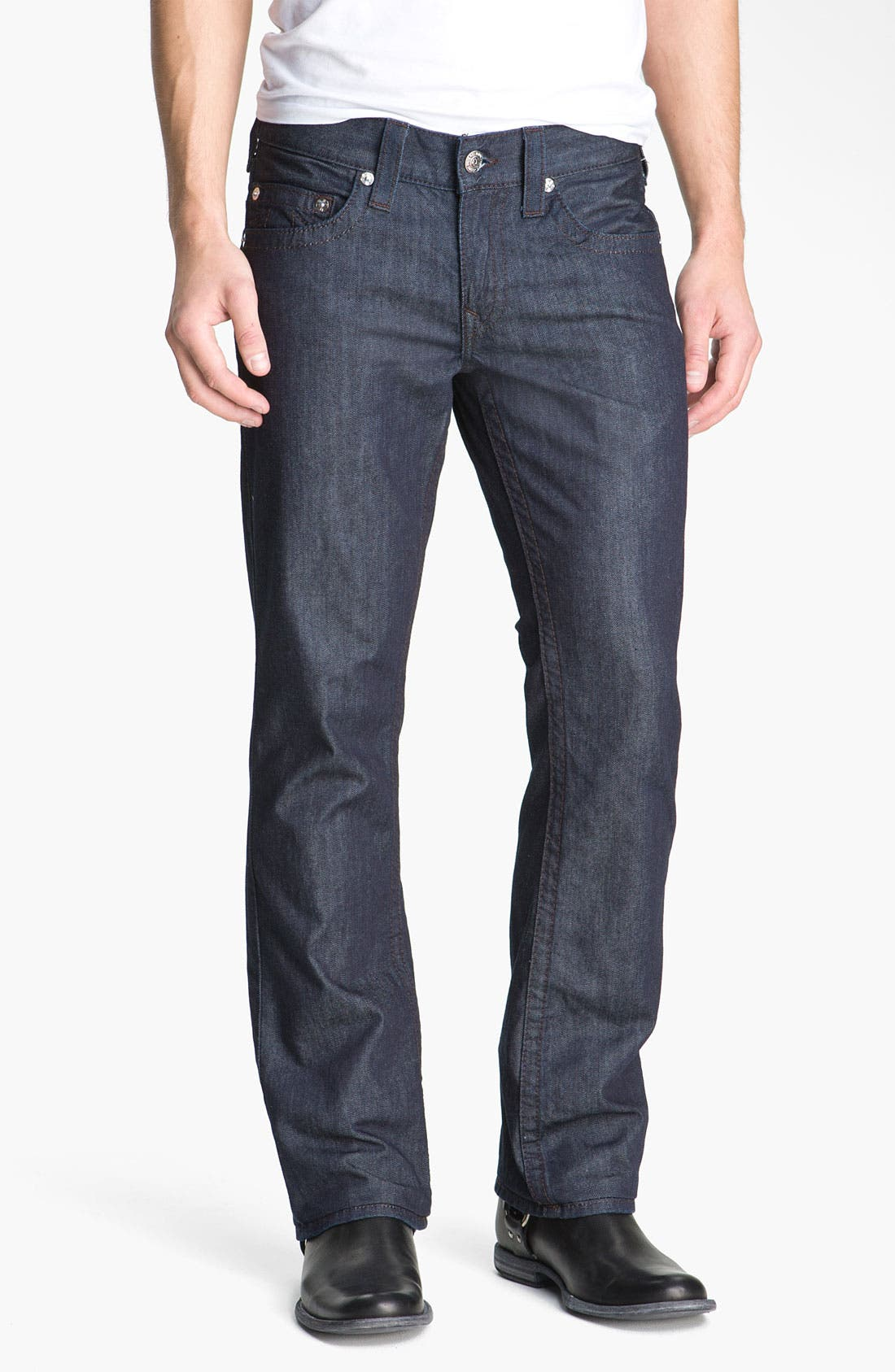 Alternate Image 2  - True Religion Brand Jeans 'Bobby' Straight Leg Jeans (Bodyrinse)