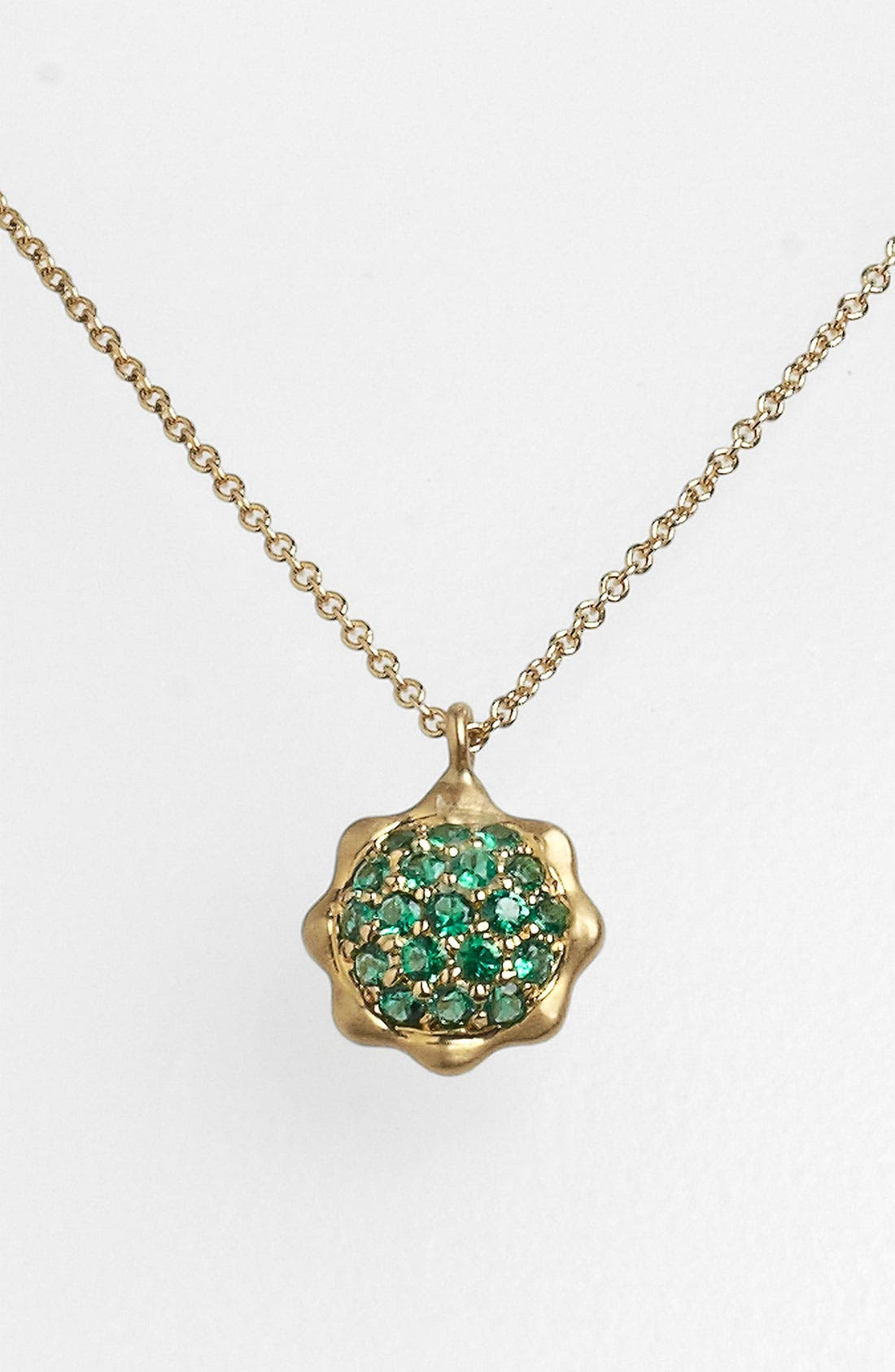 Alternate Image 1 Selected - Carelle 'May' Birthstone Pendant Necklace