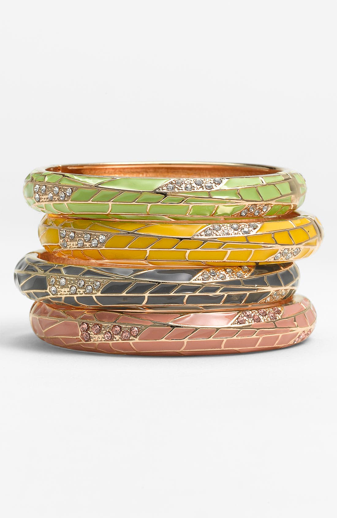 Alternate Image 1 Selected - Sequin Small Insect Wing Enamel Bangle