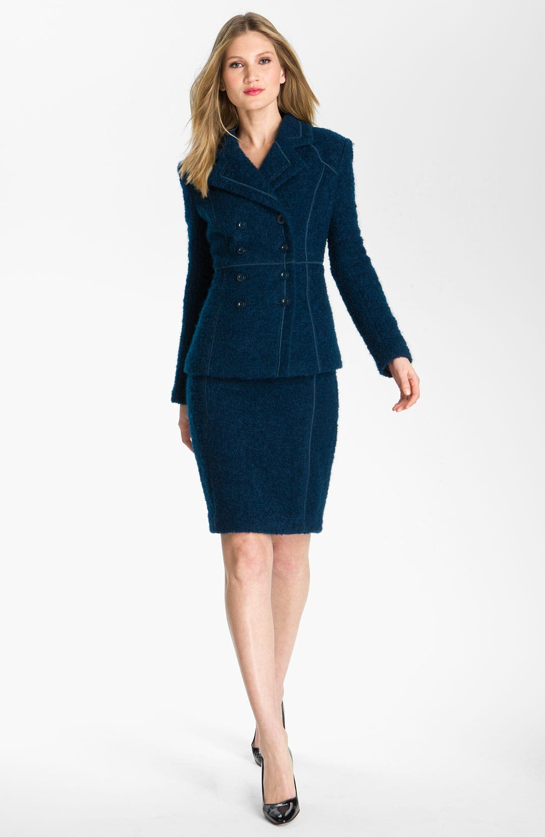 Main Image - St. John Collection Double Breasted Bouclé Jacket