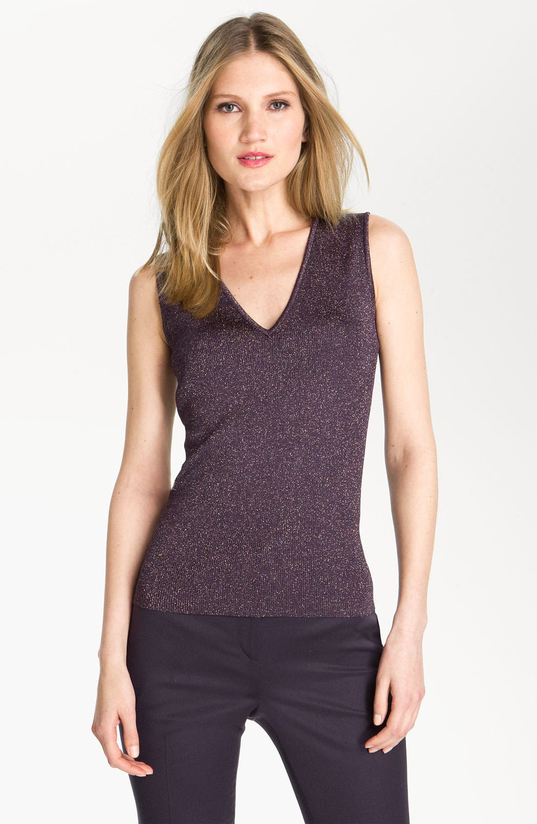 Main Image - St. John Collection Shimmer Knit Shell