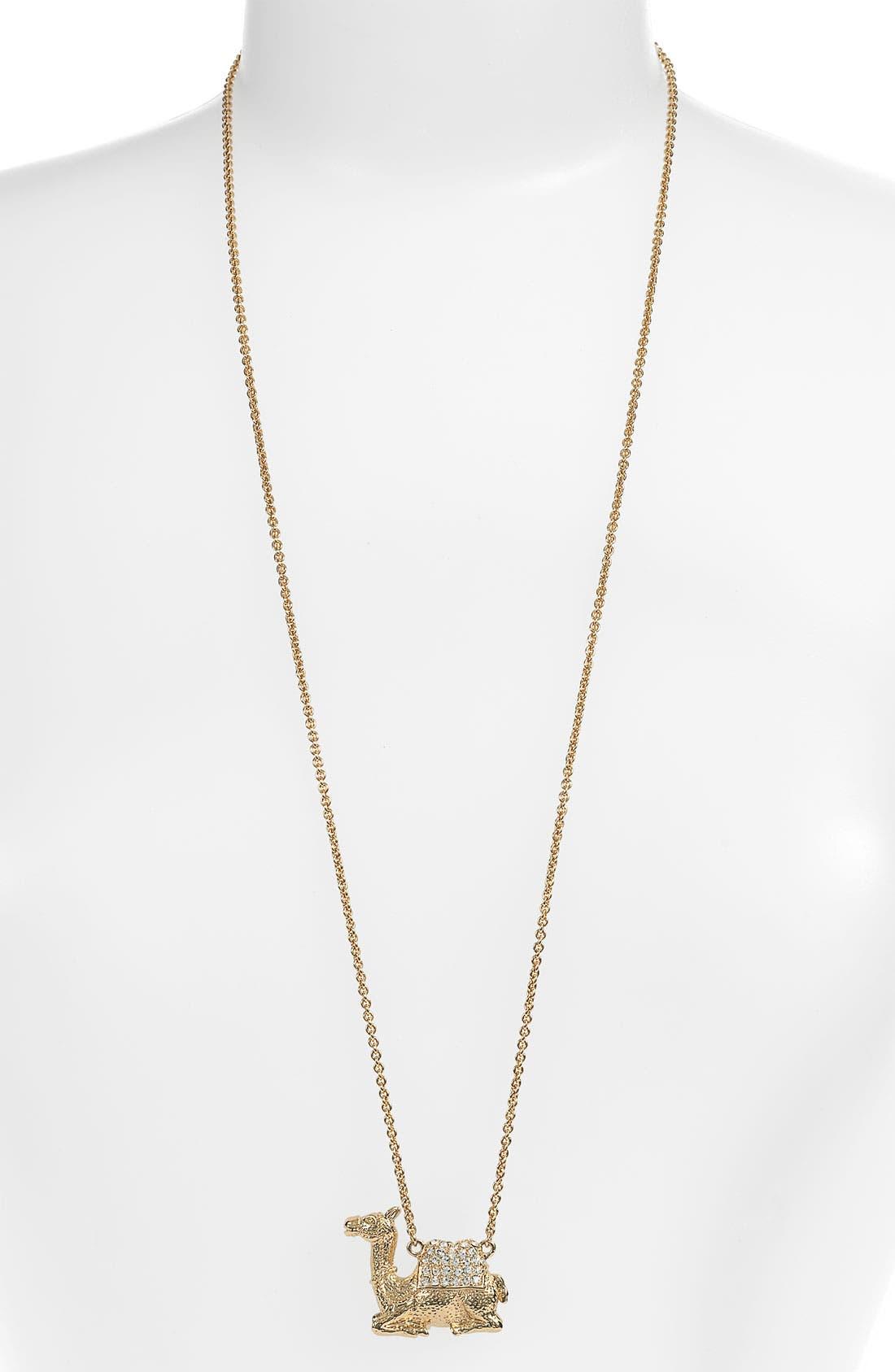 Main Image - kate spade new york 'wild one' camel pendant necklace