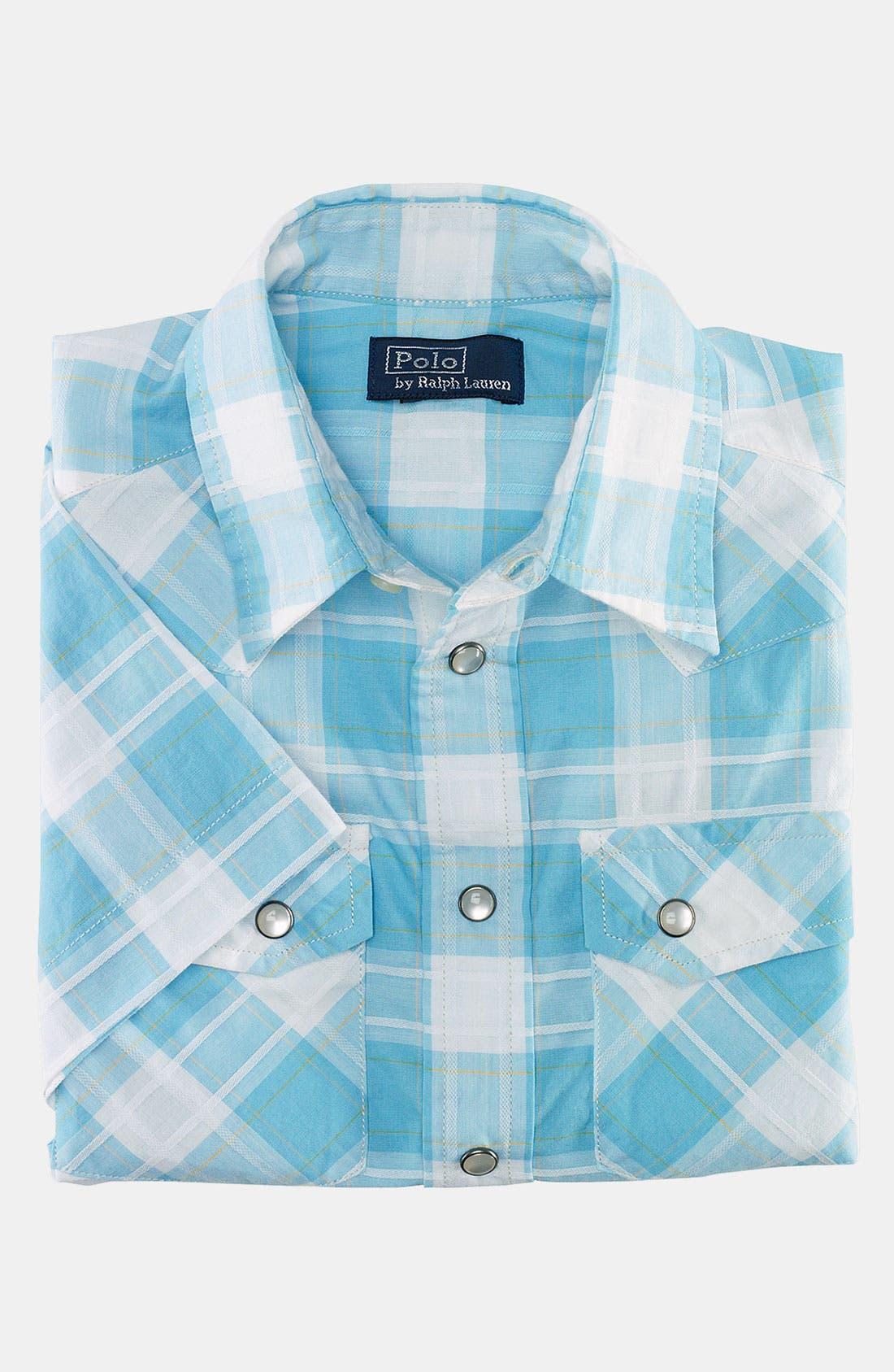 Alternate Image 2  - Ralph Lauren Short Sleeve Shirt (Toddler)