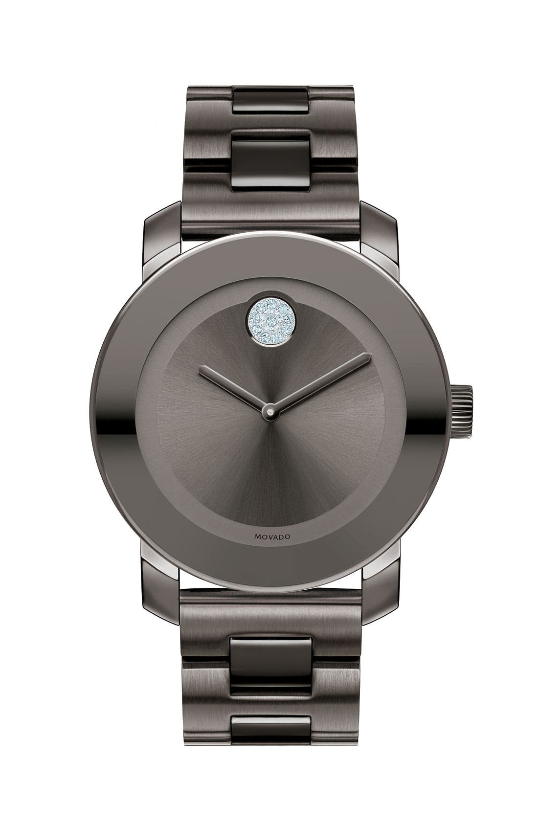 Movado 'Bold' Crystal Marker Bracelet Watch, 36mm