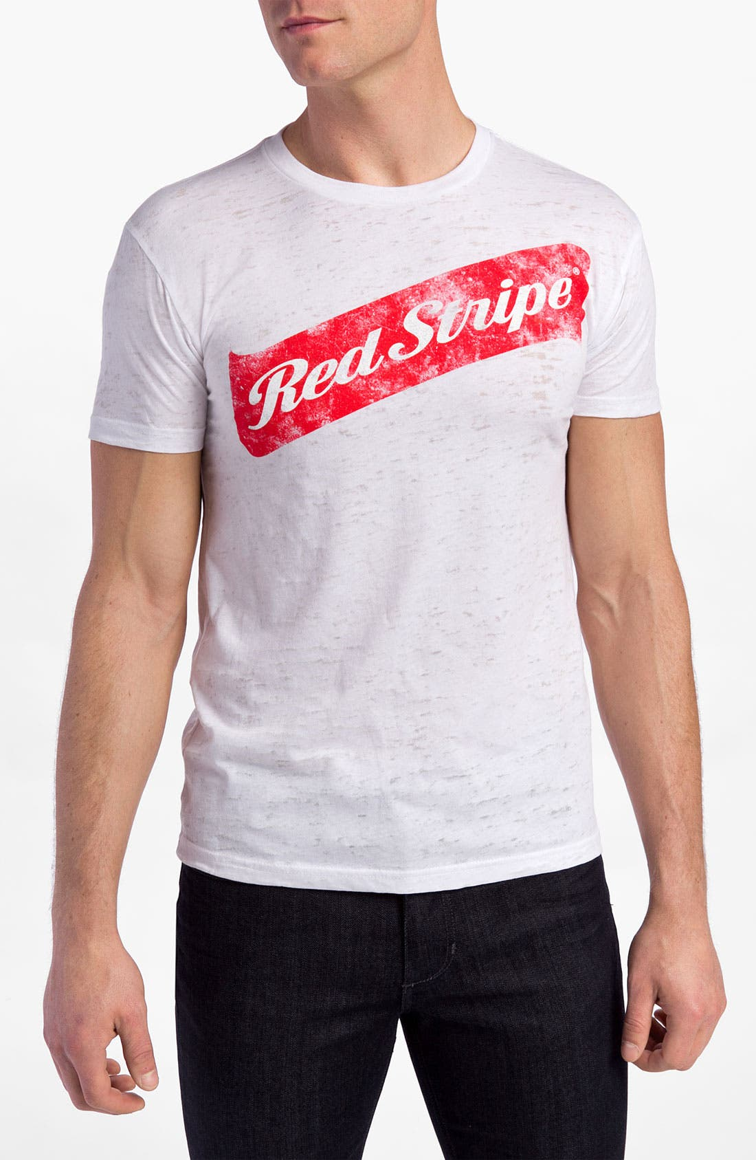 Alternate Image 1 Selected - Free Authority 'Red Stripe' T-Shirt
