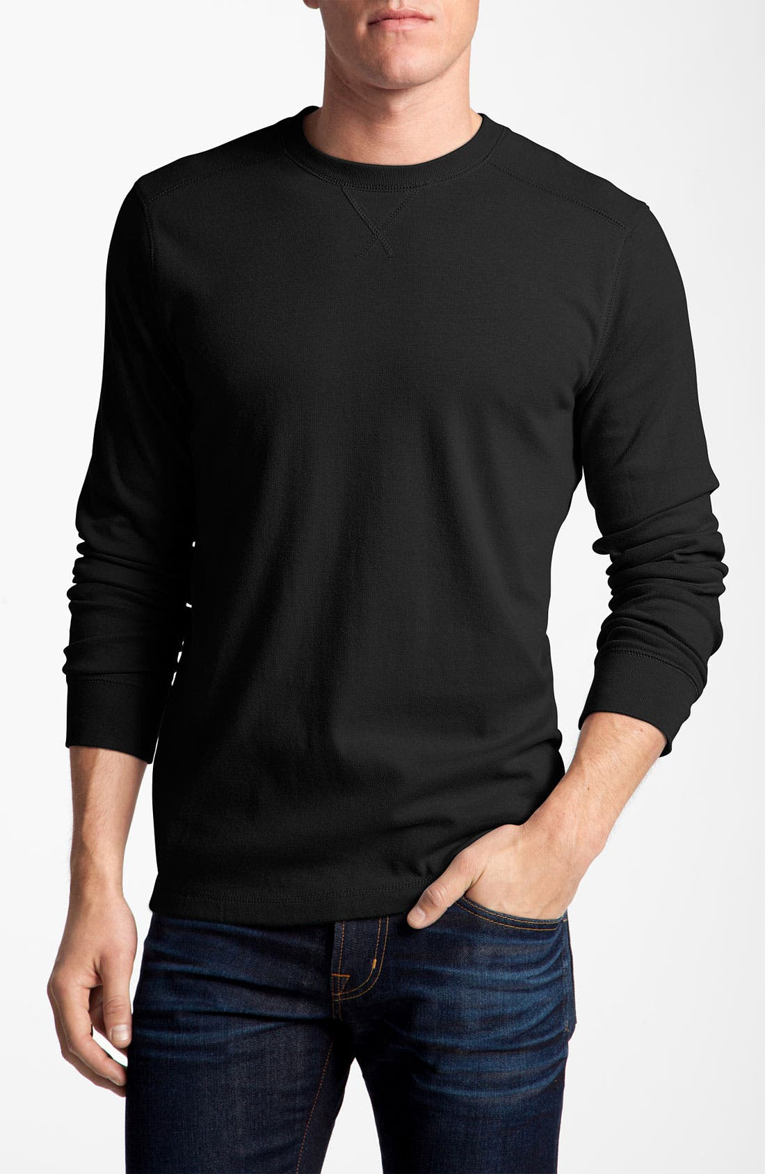 Main Image - Quiksilver Long Sleeve Knit T-Shirt