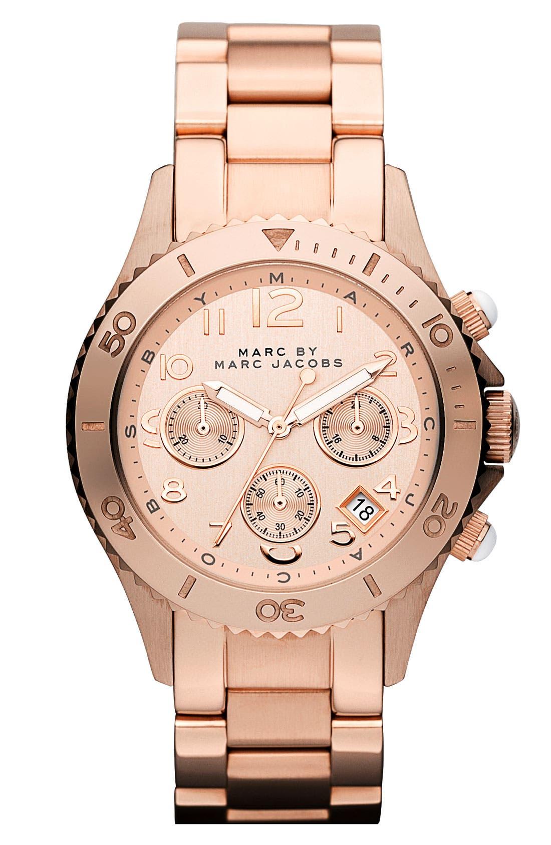 Main Image - MARC JACOBS 'Rock' Round Chronograph Bracelet Watch
