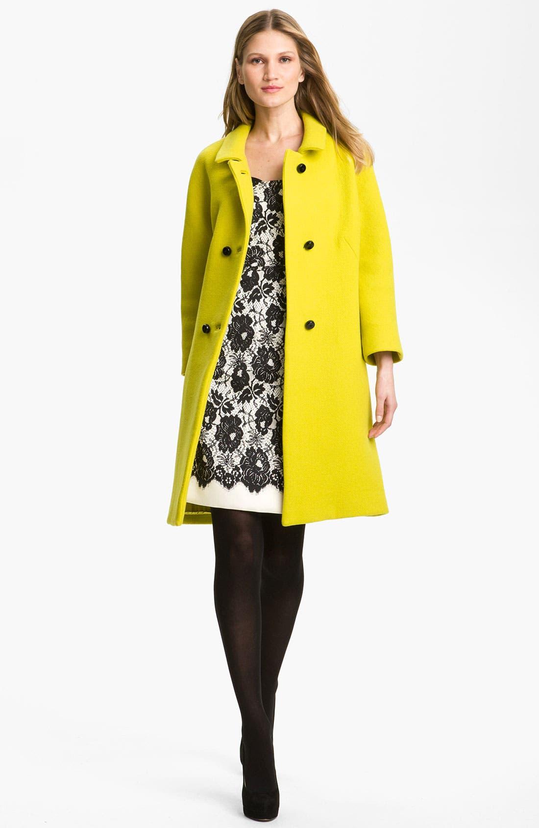 Alternate Image 4  - Milly 'Alexis' Wool Blend Coat