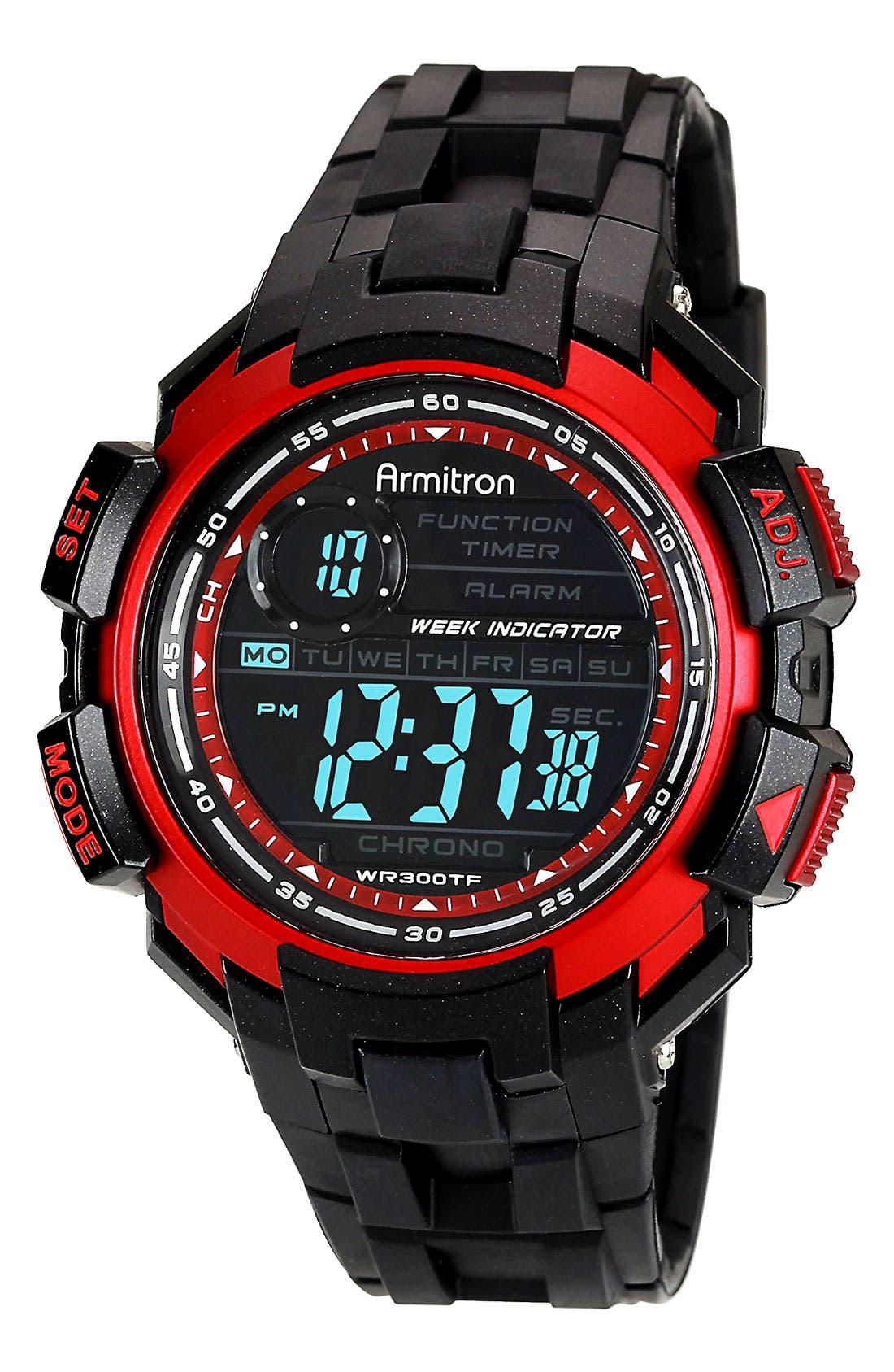 Alternate Image 1 Selected - Armitron Digital Resin Watch, 47mm