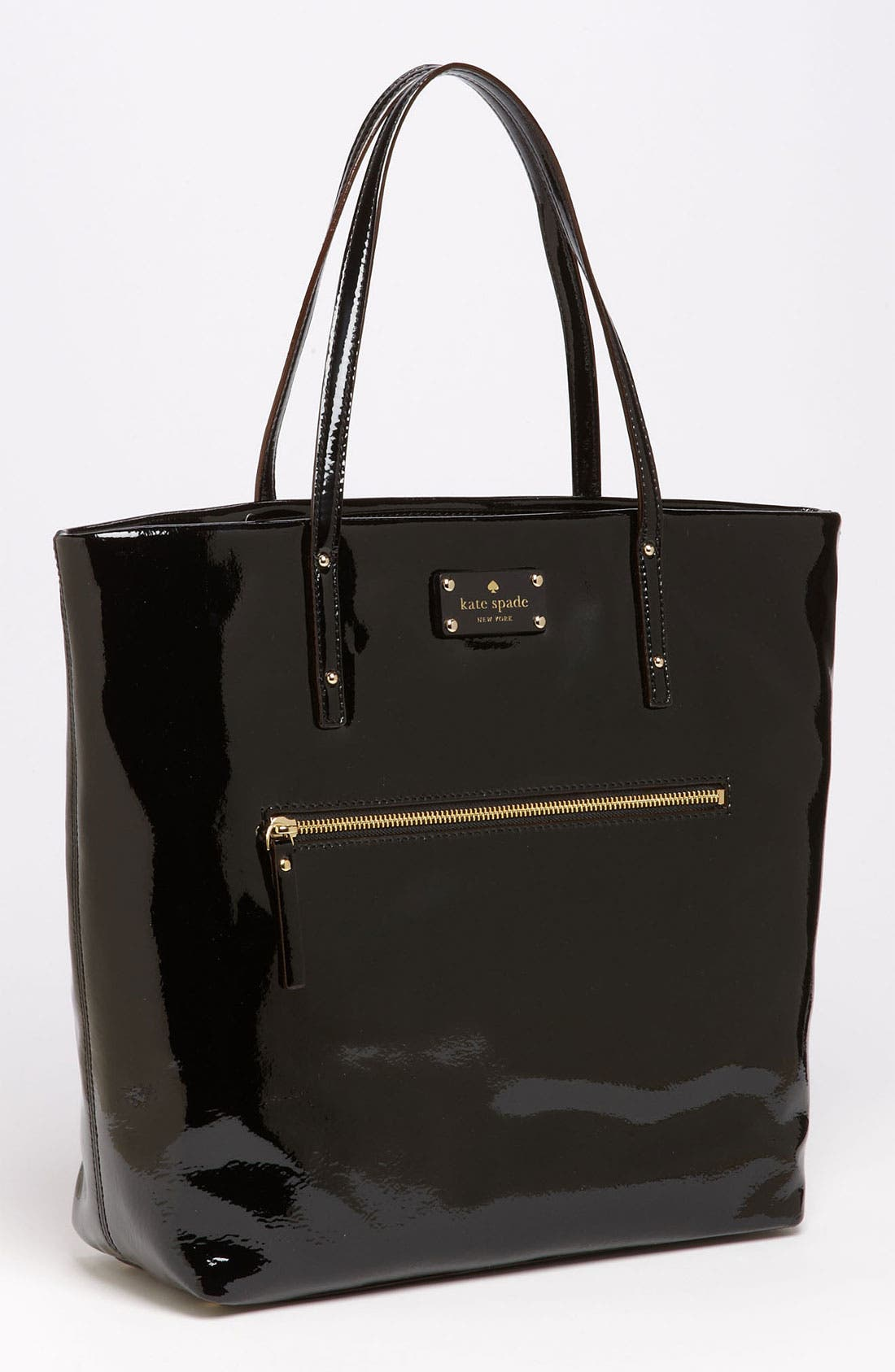 Alternate Image 1 Selected - kate spade new york patent leather bon shopper