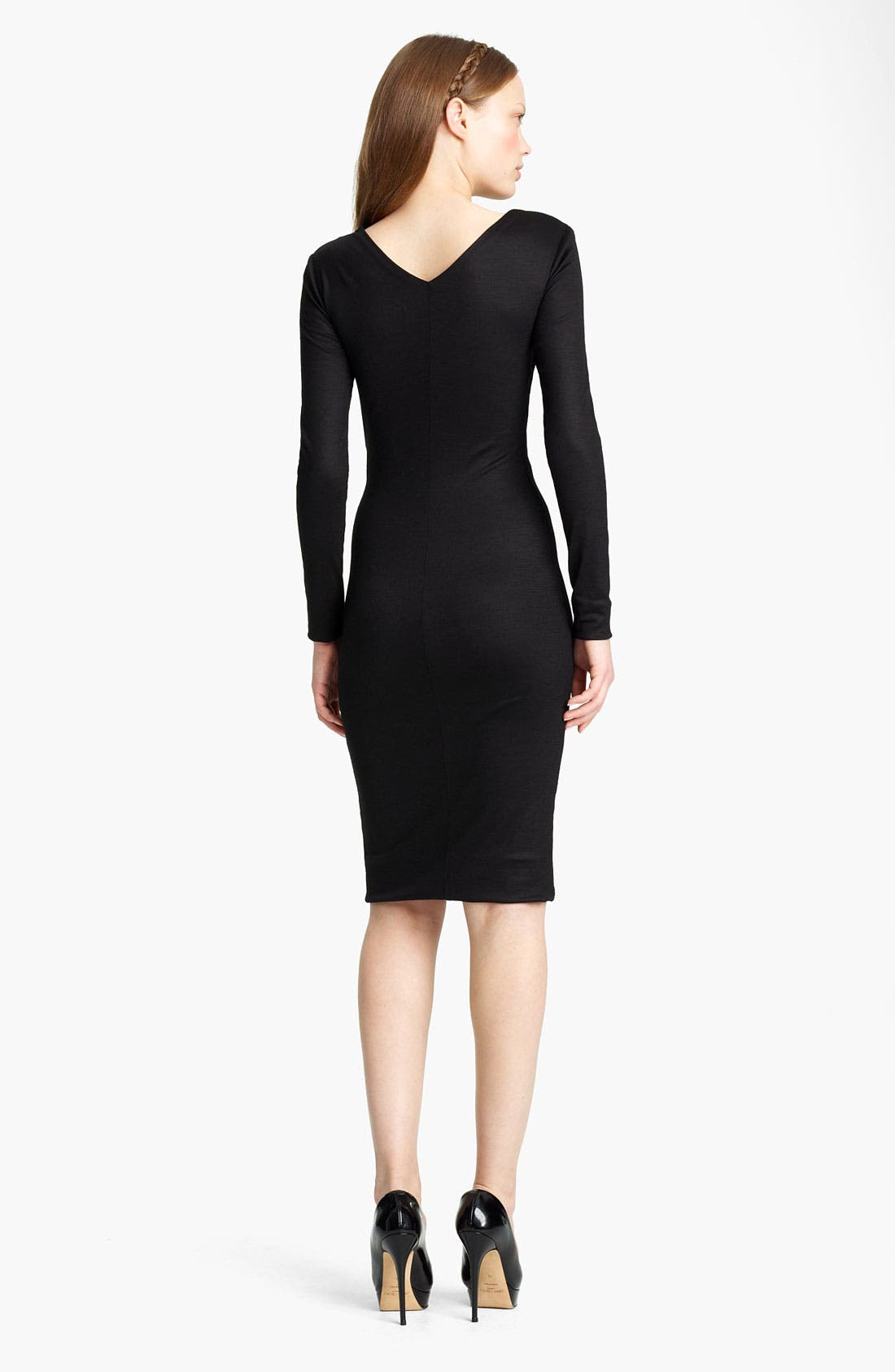 Alternate Image 2  - Emilio Pucci Georgette Inset Jersey Dress