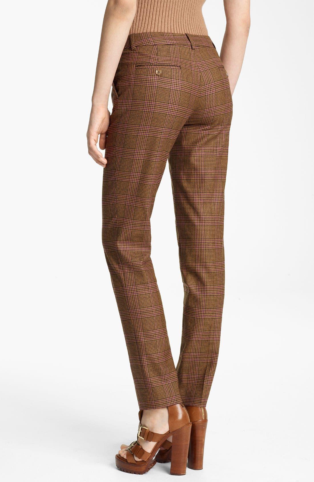 Alternate Image 2  - Michael Kors 'Samantha' Skinny Plaid Wool Pants