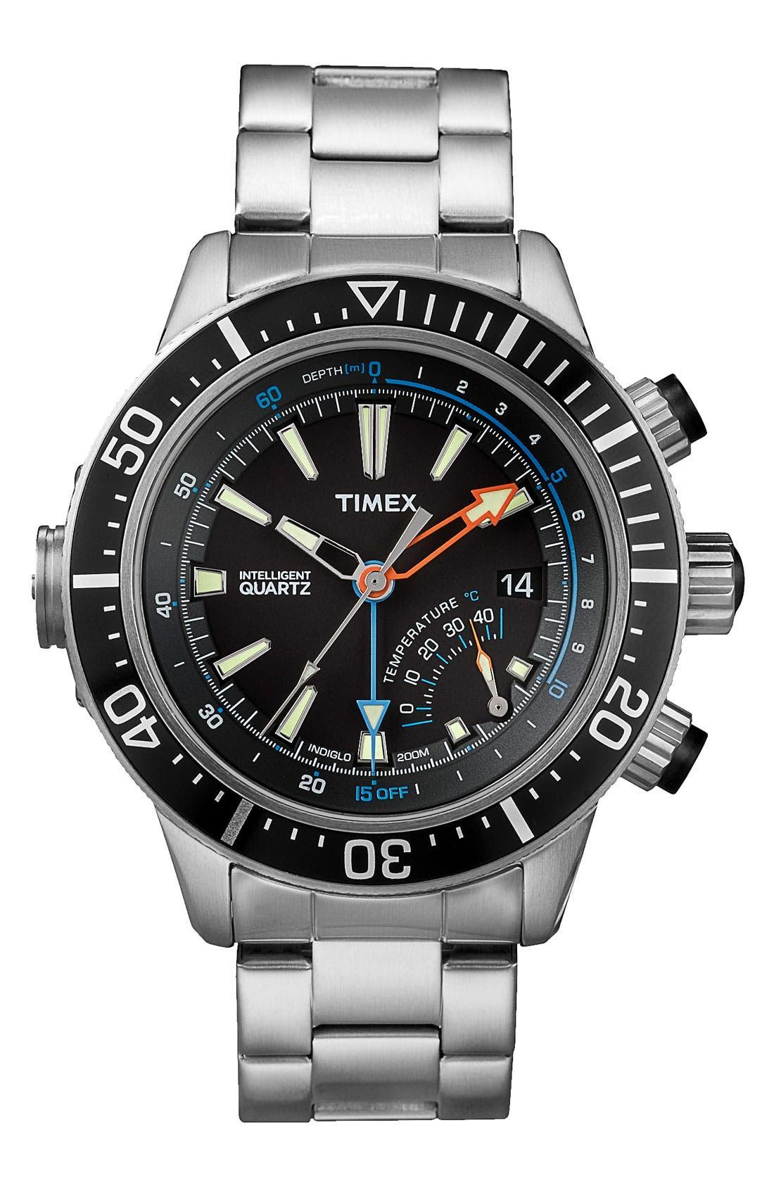 Main Image - Timex® 'Intelligent Quartz' Depth Gauge Bracelet Watch