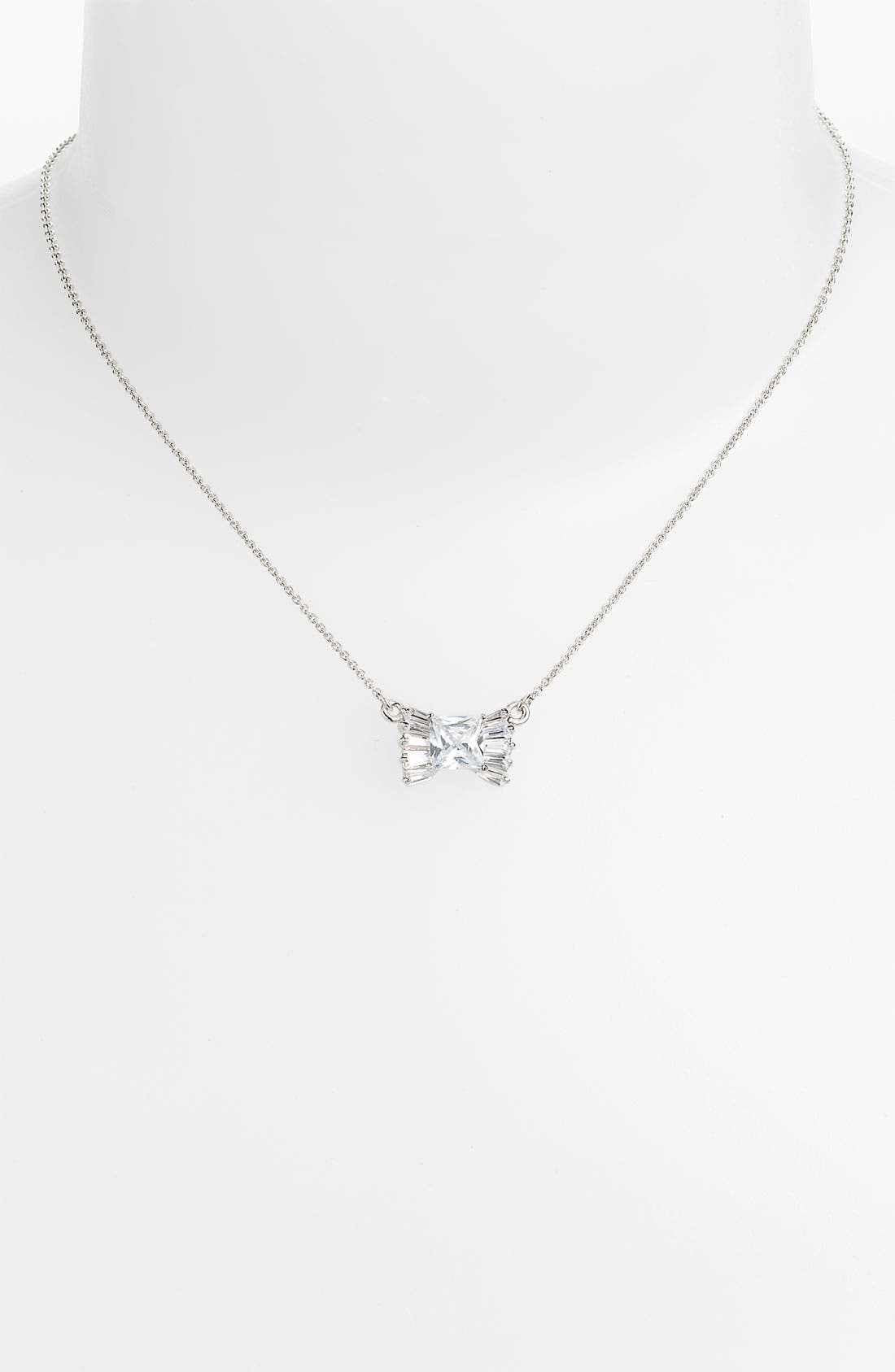 Alternate Image 1 Selected - kate spade new york 'le soir' bow pendant necklace