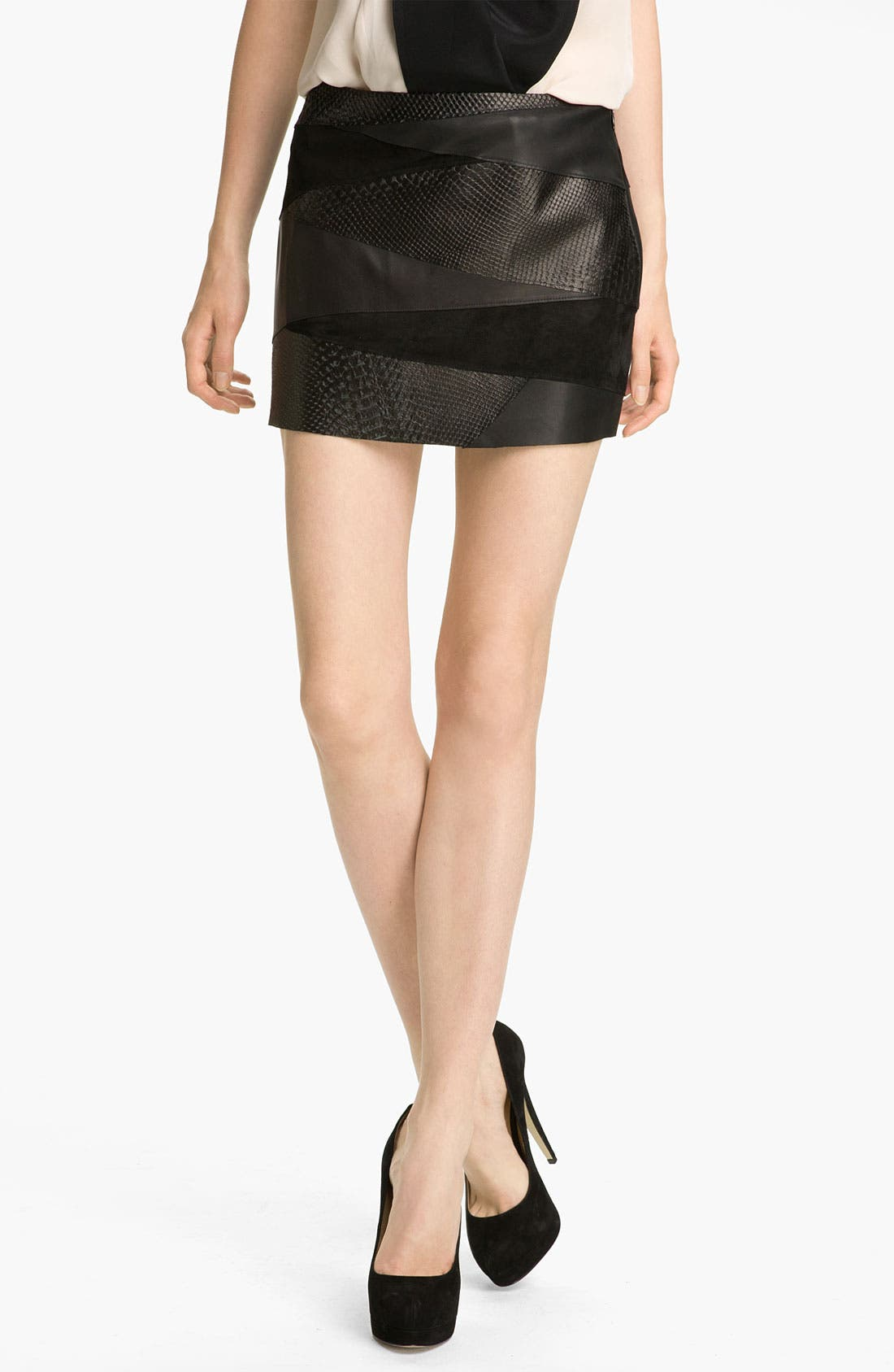 Alternate Image 1 Selected - Haute Hippie Leather Miniskirt