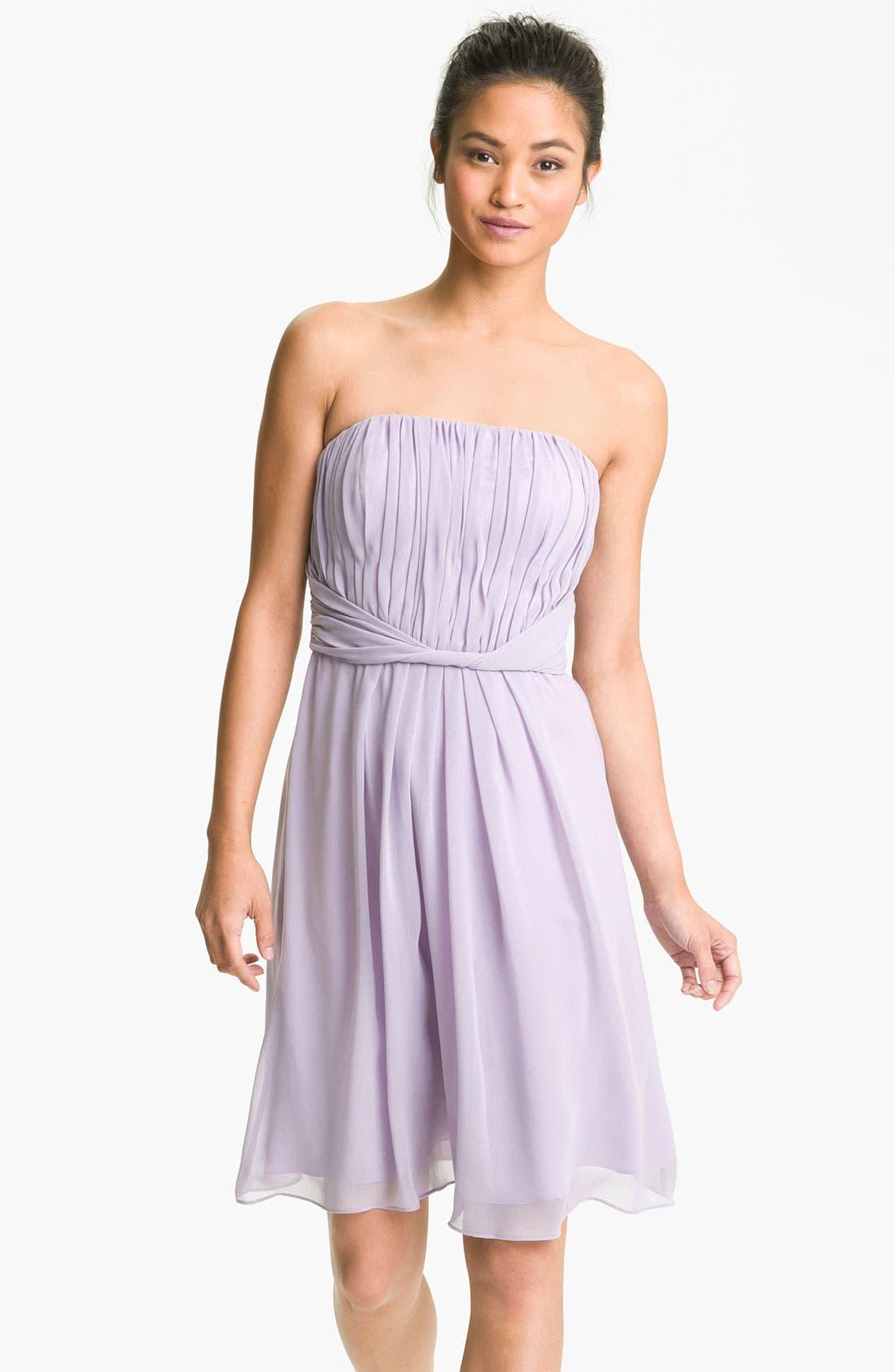 Main Image - Donna Morgan Strapless Chiffon Dress