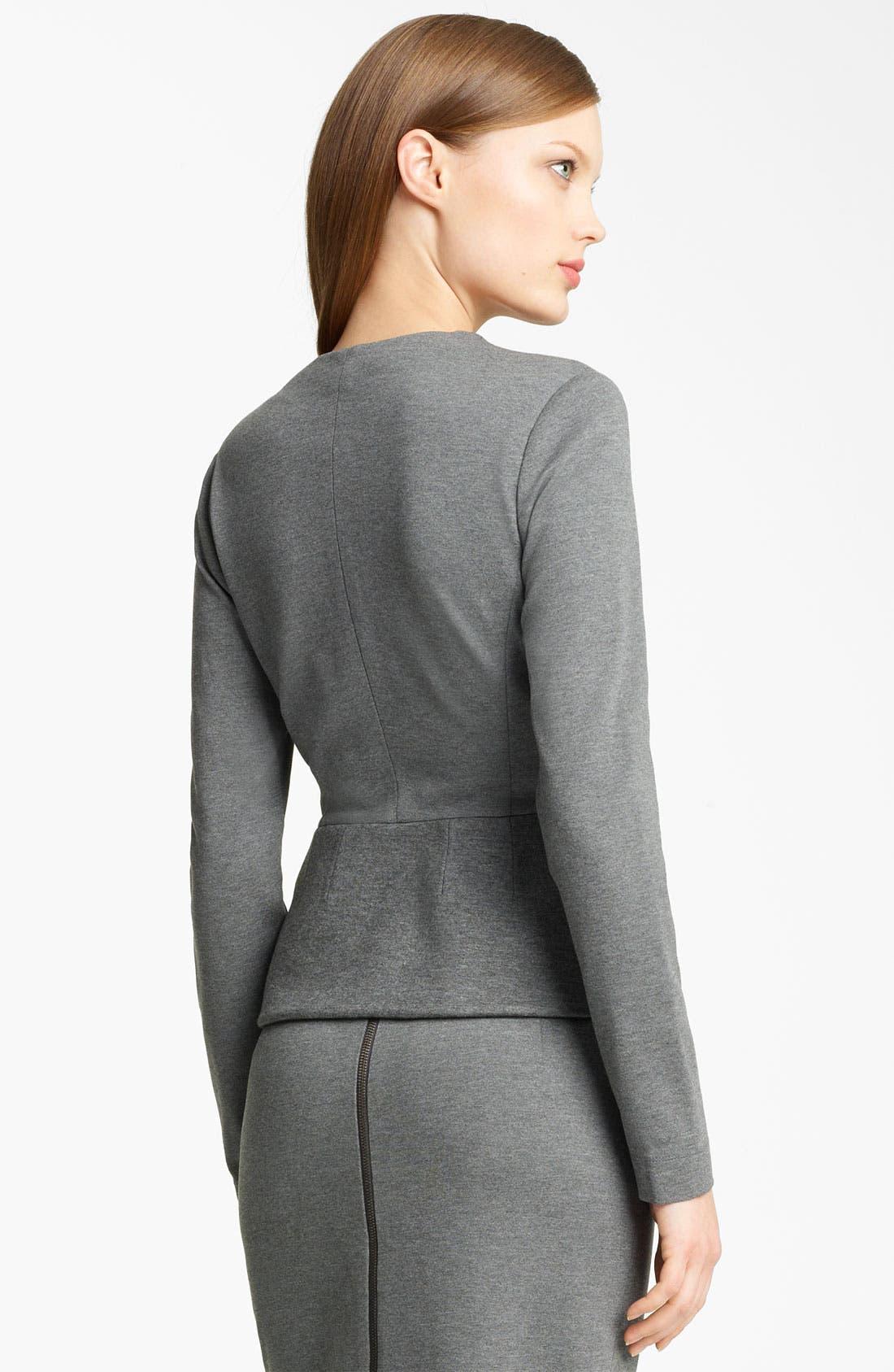 Alternate Image 2  - Lida Baday Bonded Jersey Jacket