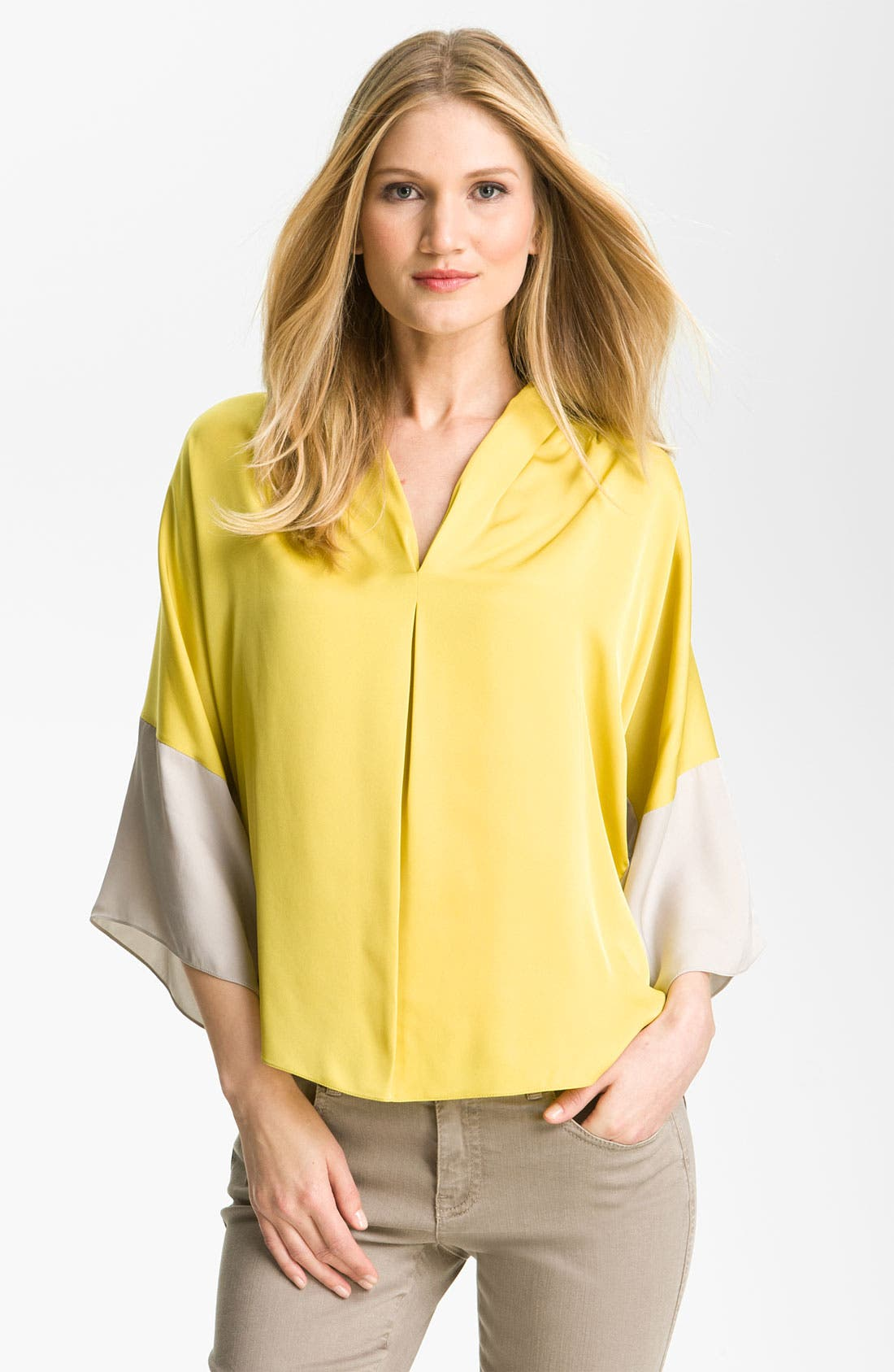 Alternate Image 1 Selected - Elie Tahari Exclusive for Nordstrom 'Sage' Silk Blouse