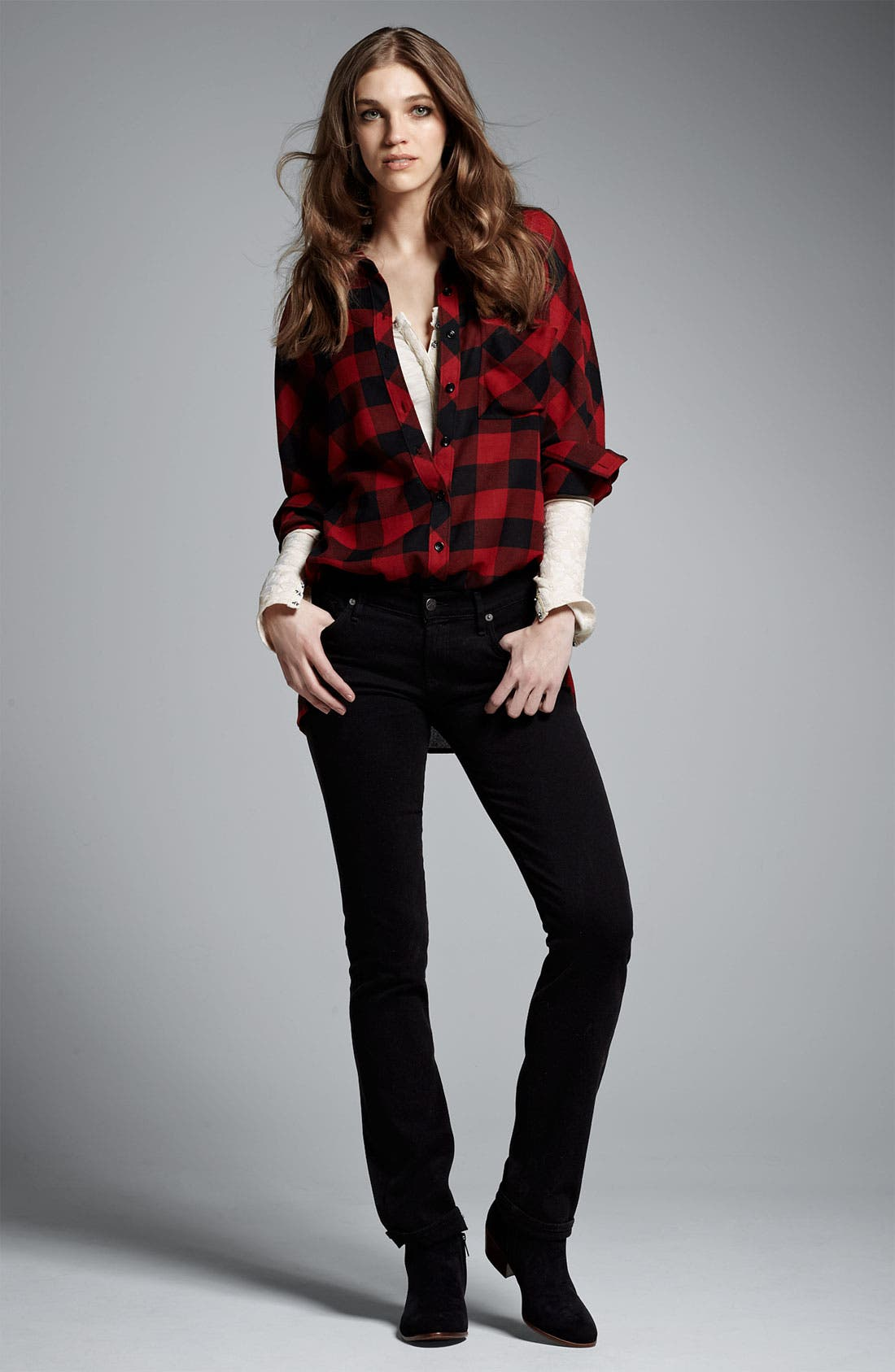 Alternate Image 4  - Citizens of Humanity 'Ava' Straight Leg Stretch Jeans (Vamp Black) (Online Exclusive)