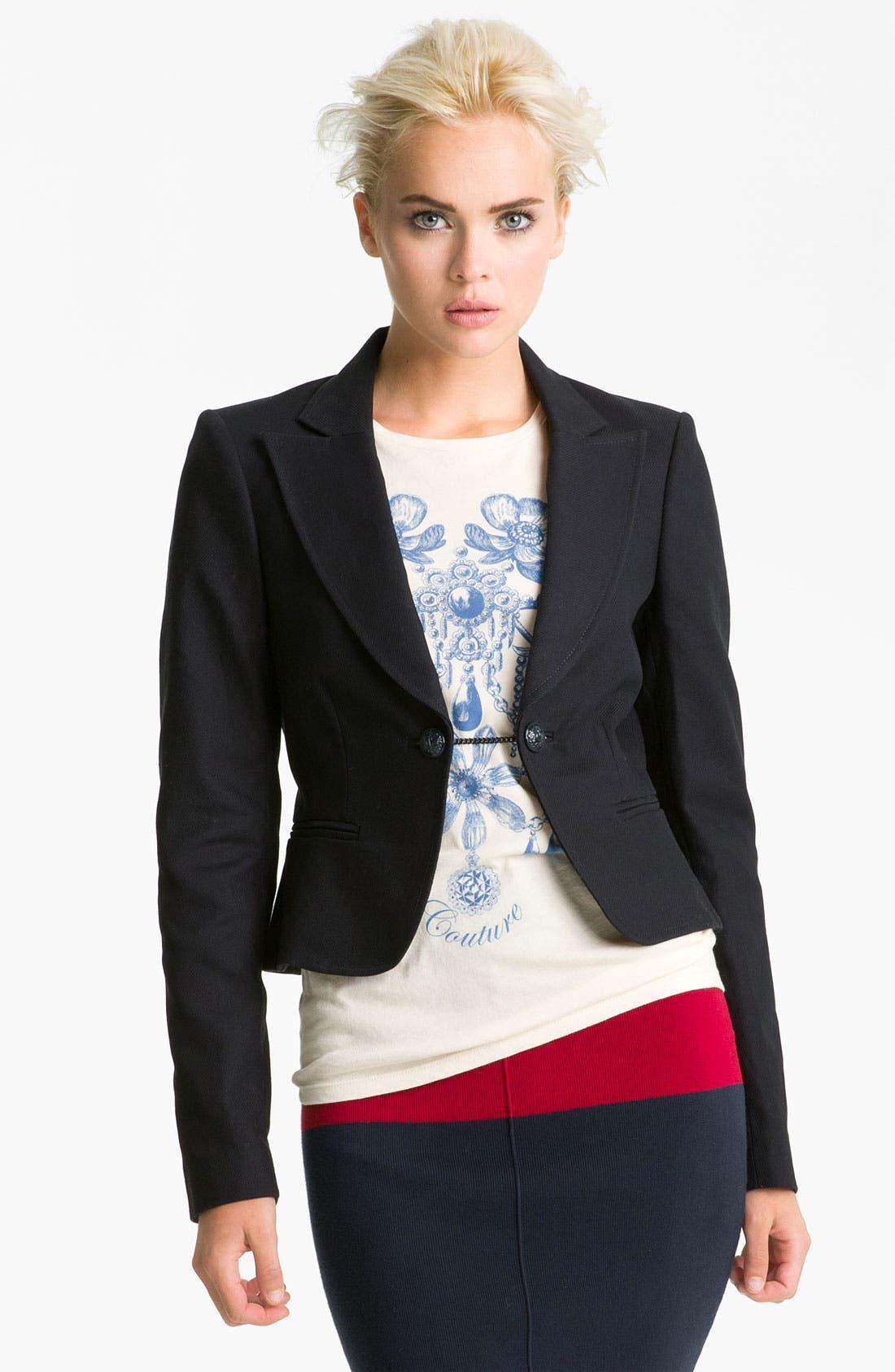 Main Image - Juicy Couture Crop Riding Jacket