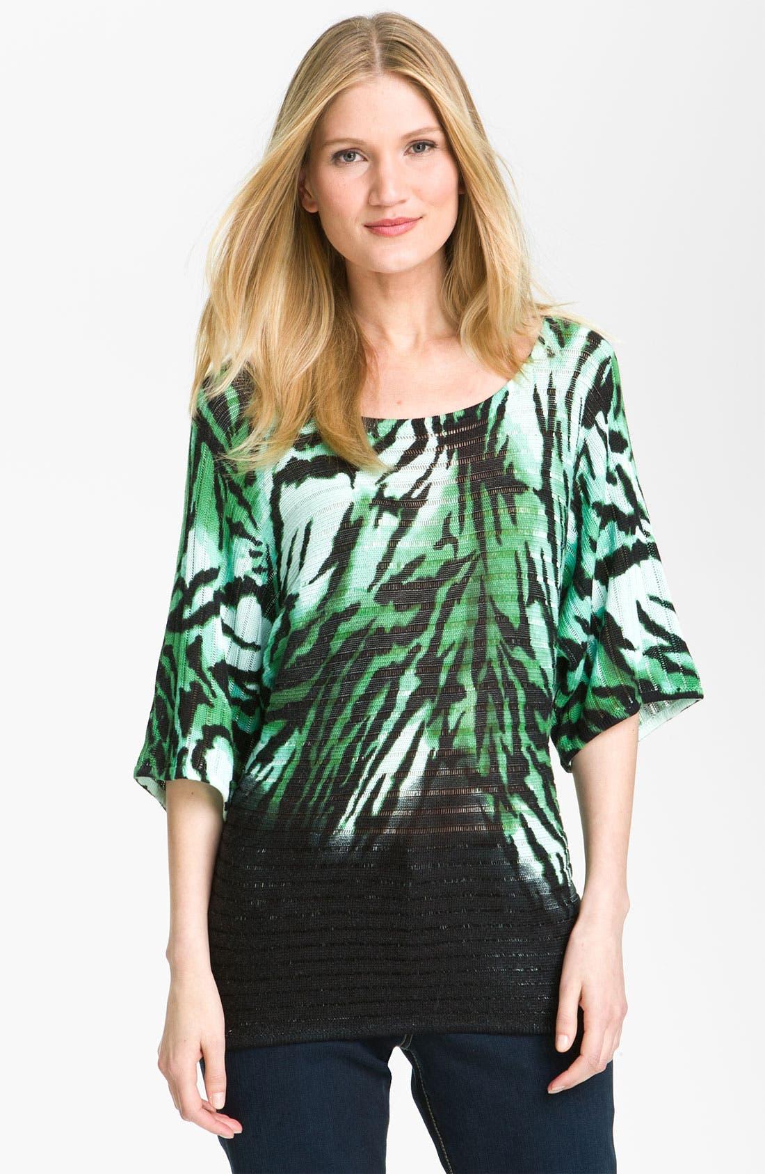 Alternate Image 1 Selected - Alberto Makali 'Zebra' Print Sweater
