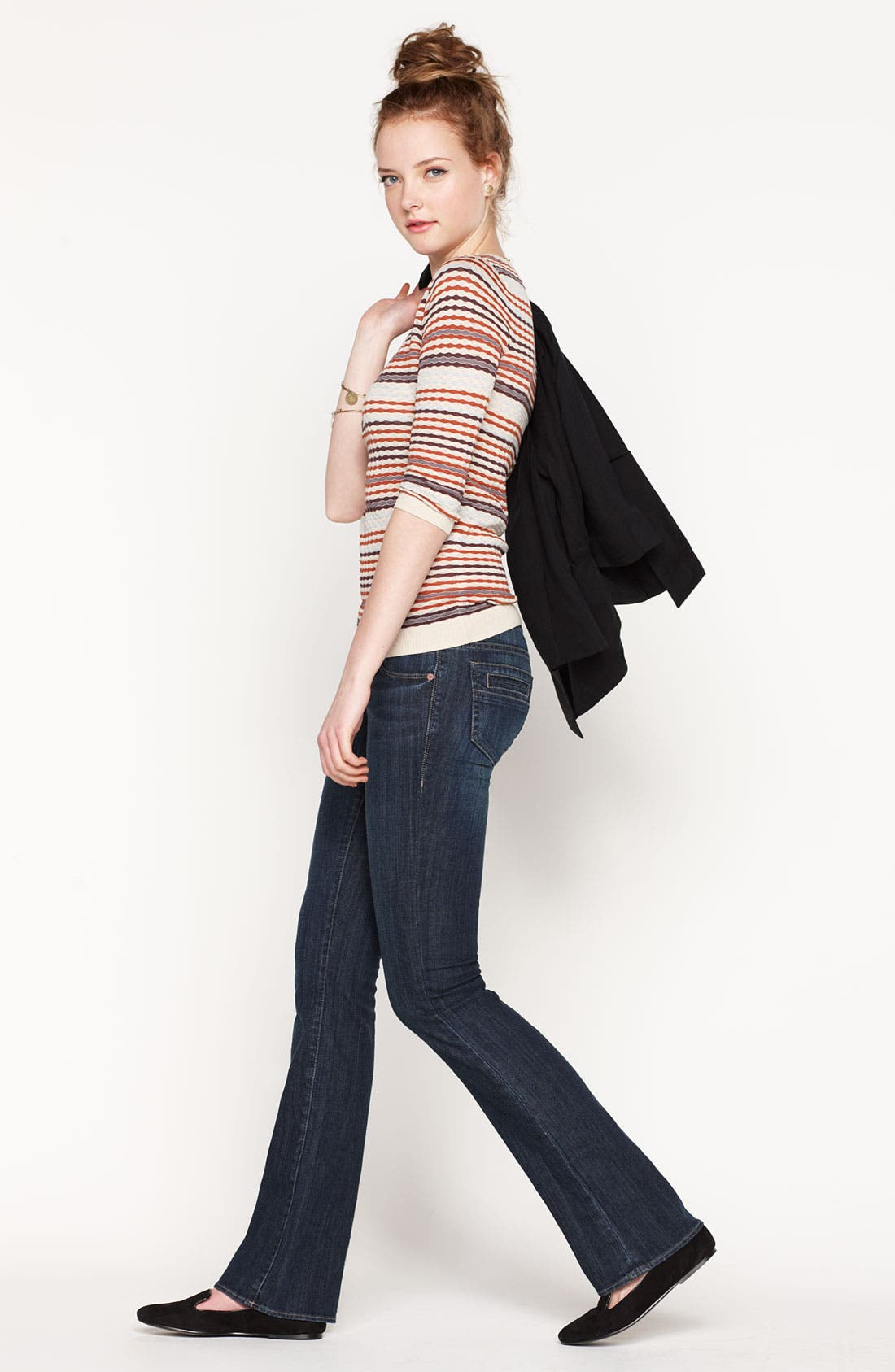 Alternate Image 4  - Articles of Society 'Kendra' Bootcut Jeans (Topaz) (Juniors)