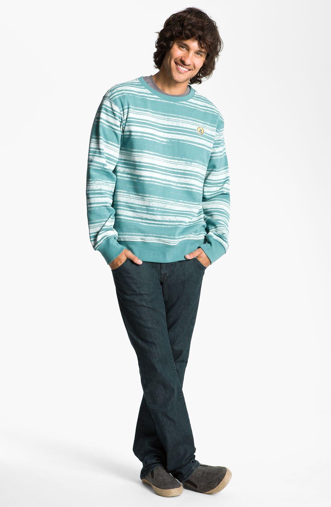 Alternate Image 5  - Volcom 'Nova' Slim Straight Leg Jeans (Los Tintos) (Online Only)