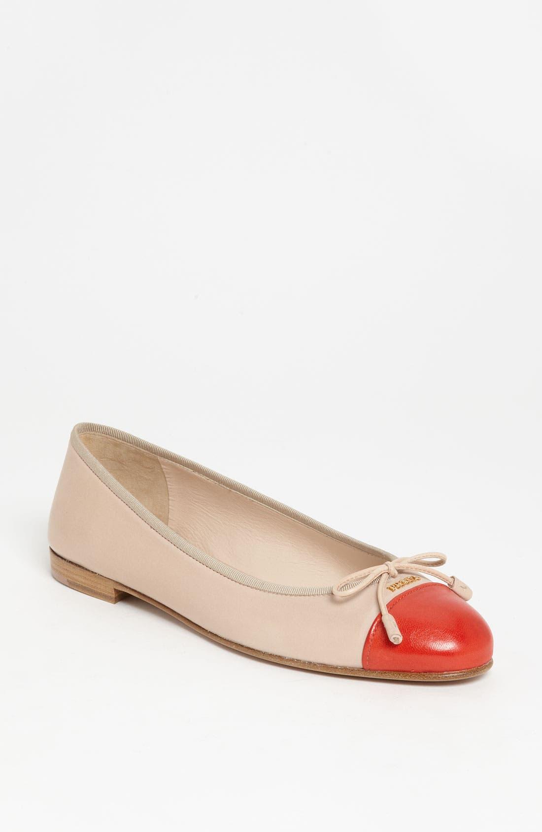 Alternate Image 1 Selected - Prada Bow Ballerina Flat