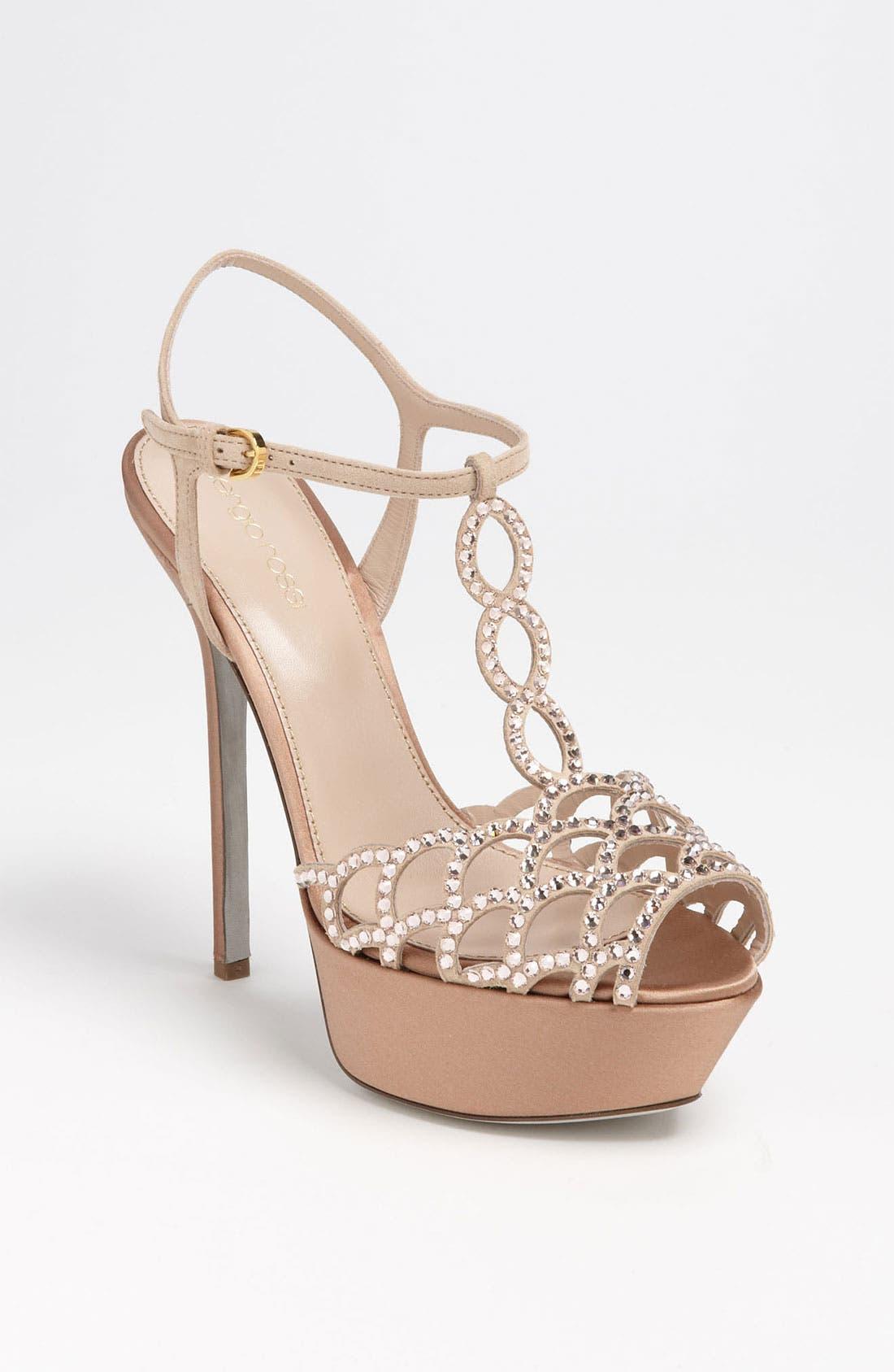 Alternate Image 1 Selected - Sergio Rossi 'Crystal Vague' Platform Sandal