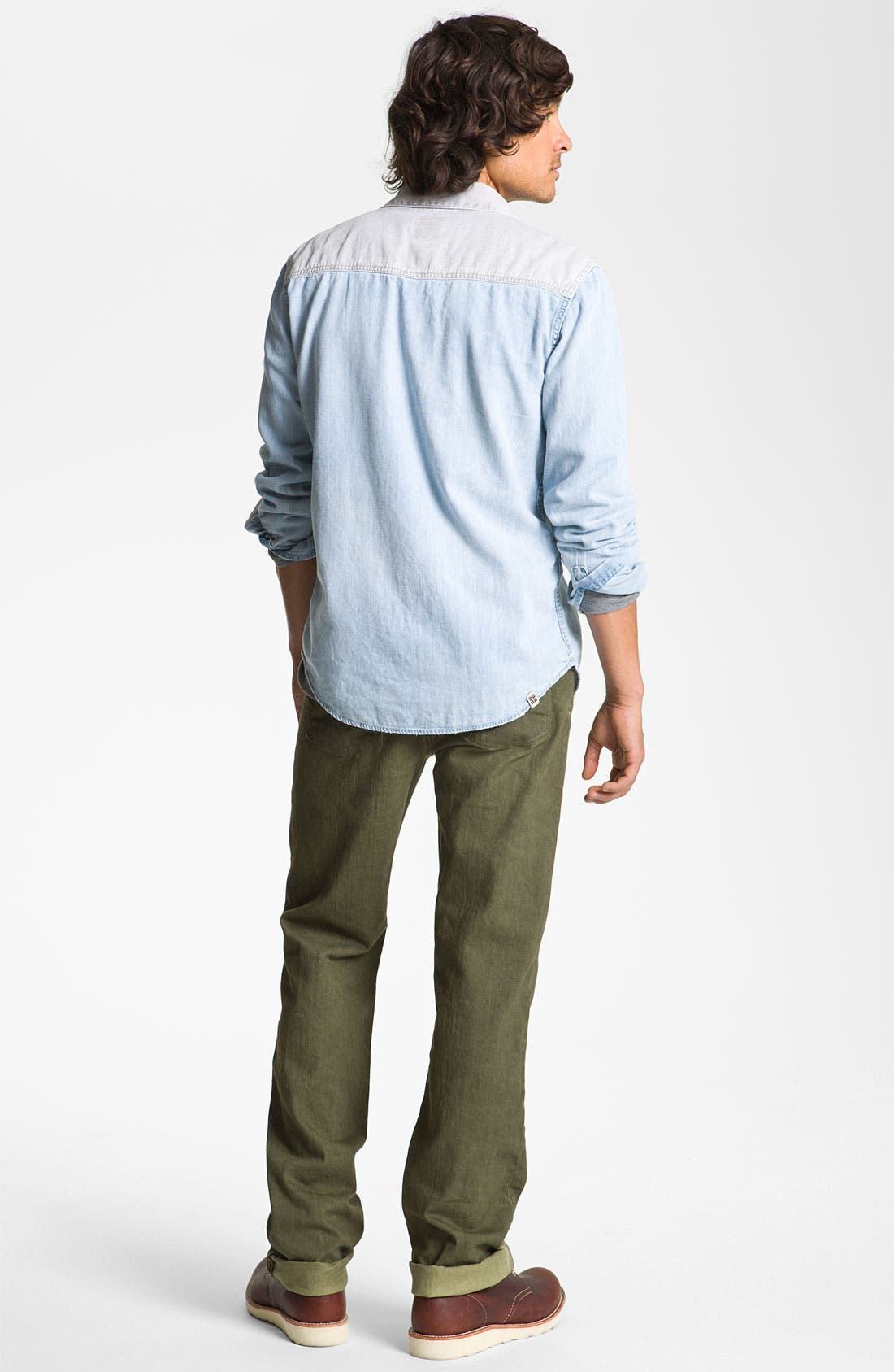 Alternate Image 2  - Insight Shirt, Public Opinion Thermal & Paige Straight Leg Jeans