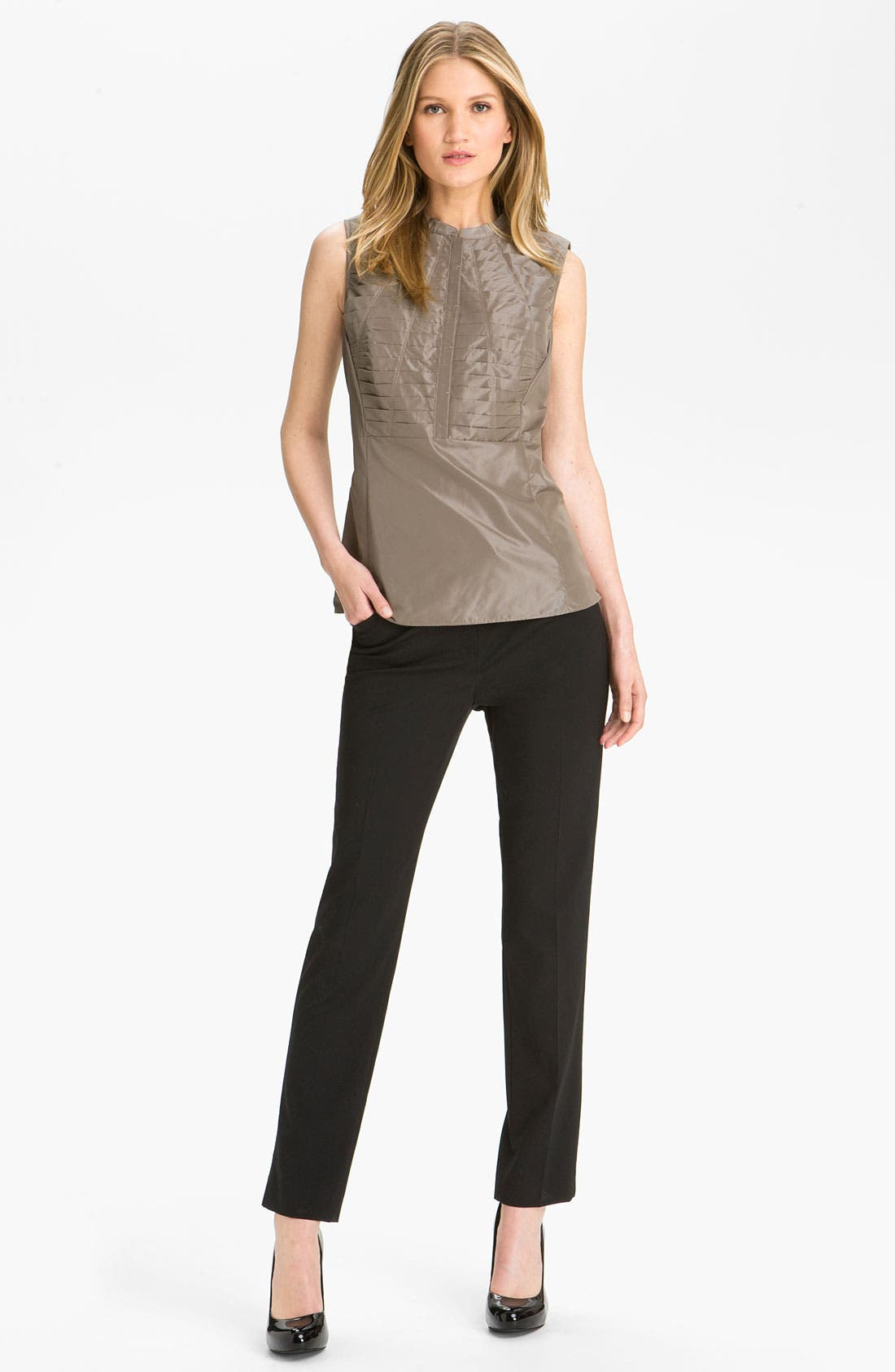 Alternate Image 4  - Lafayette 148 New York 'Chelsea Shine Marney' Blouse