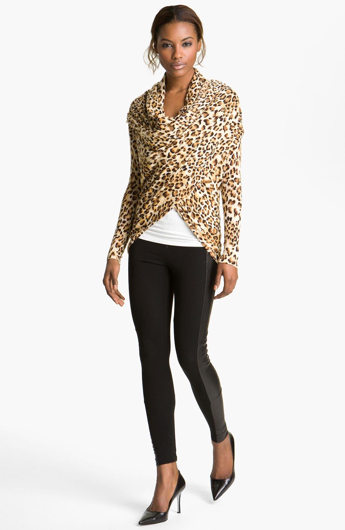 Alternate Image 2  - Alice + Olivia 'Saria' Leopard Print Open Front Cardigan
