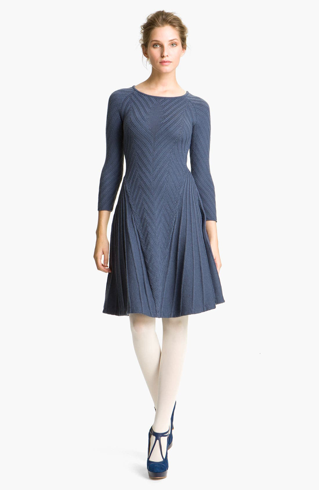 Alternate Image 1 Selected - Cacharel Chevron Knit Dress