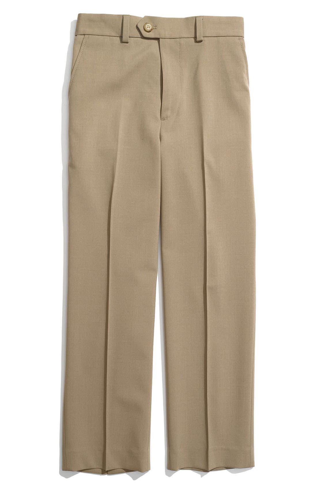 Alternate Image 1 Selected - Joseph Abboud Flat Front Dress Pants (Toddler)