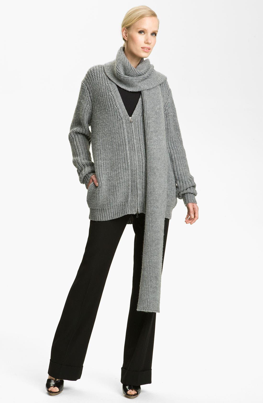 Alternate Image 1 Selected - 3.1 Phillip Lim Scarf Neck Boyfriend Cardigan