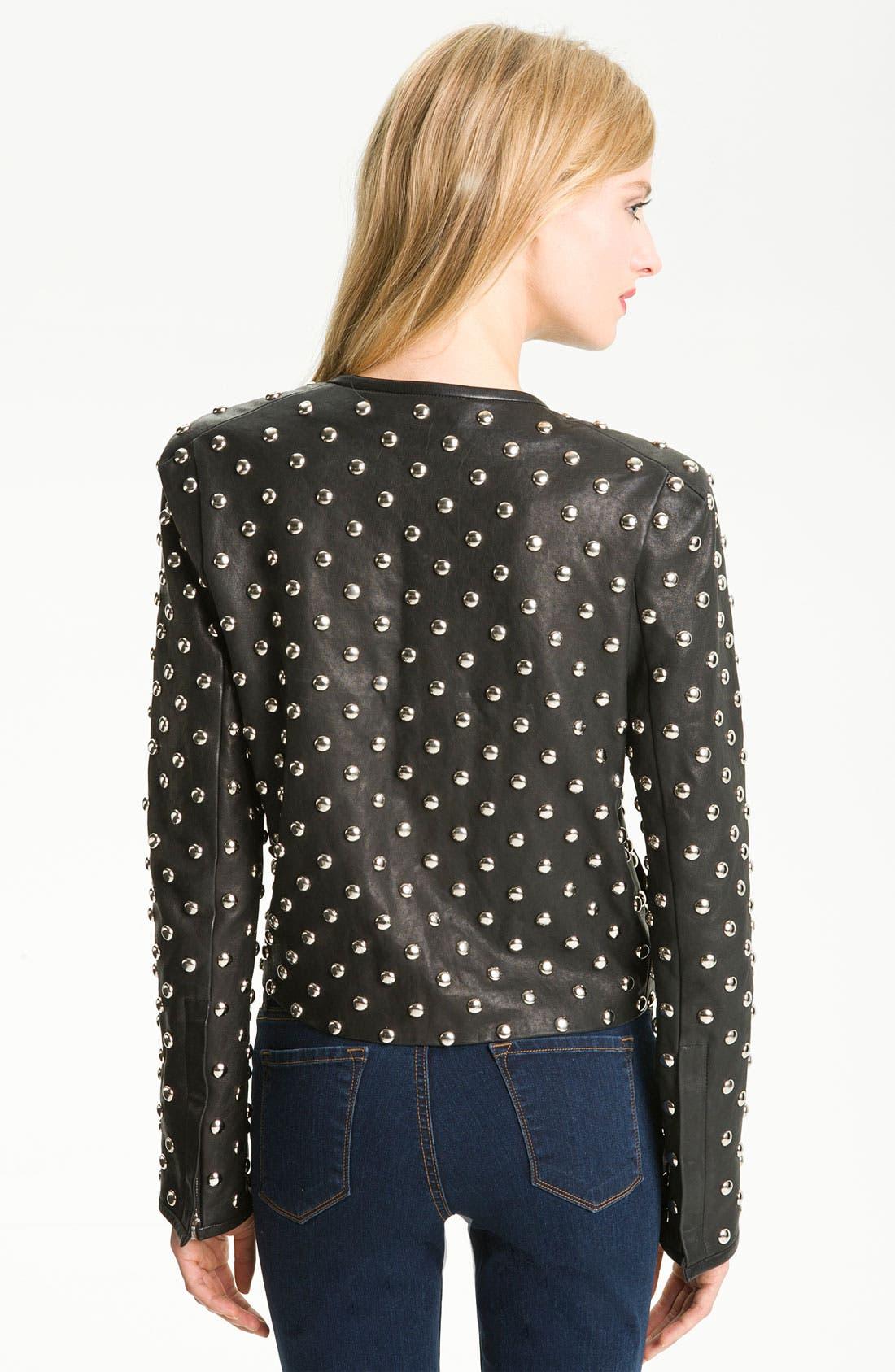 Alternate Image 2  - Diane von Furstenberg 'Kate' Studded Leather Jacket