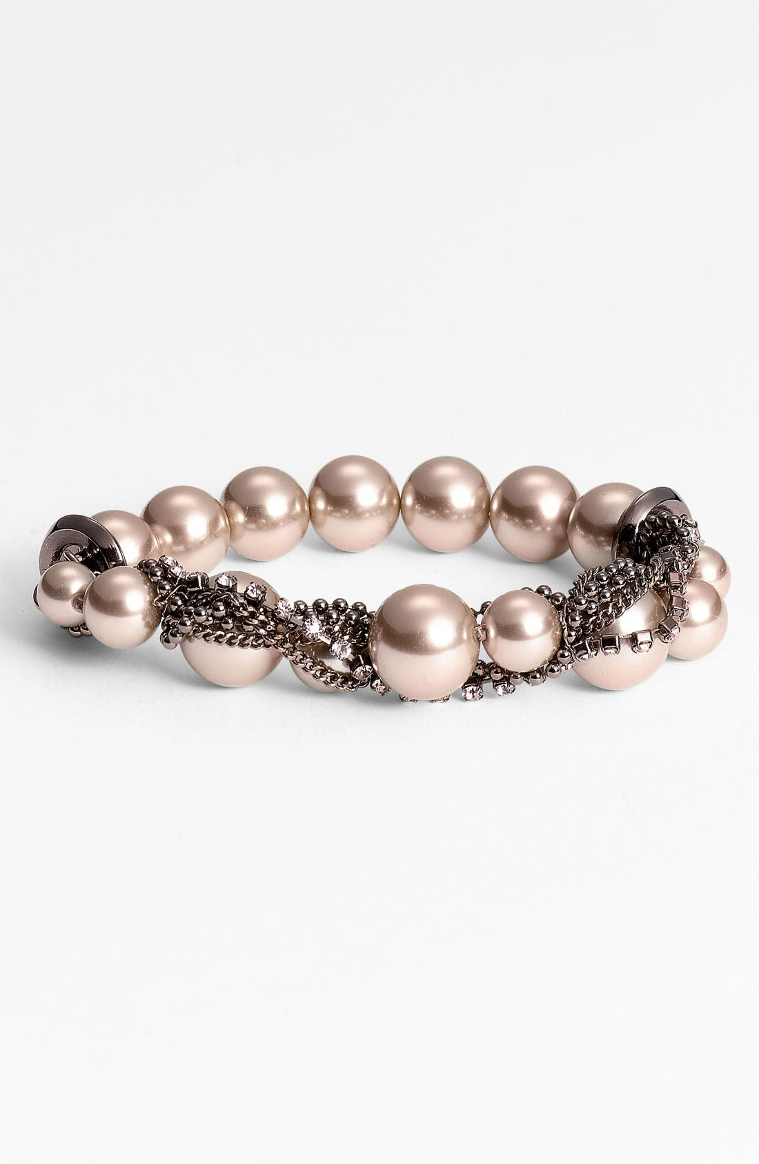 Main Image - Givenchy Glass Pearl & Chain Stretch Bracelet