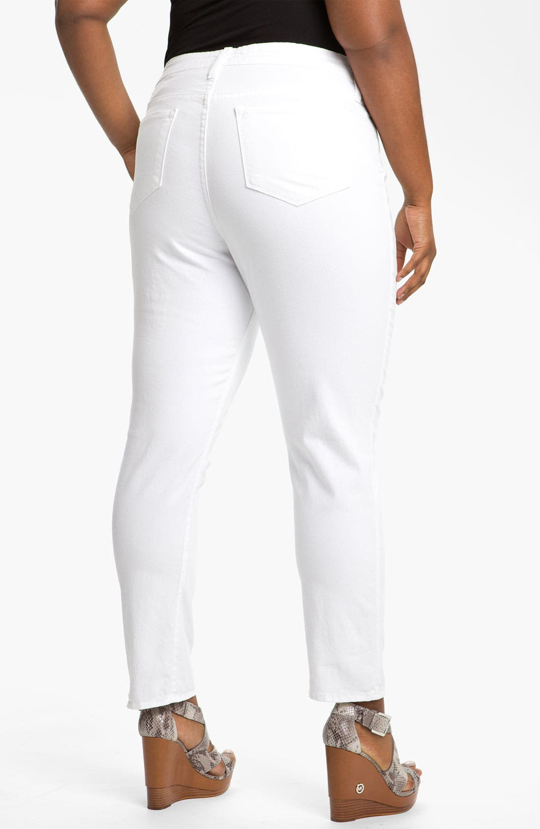 Alternate Image 1 Selected - Blue Essence Colored Twill Skinny Jeans (Plus)