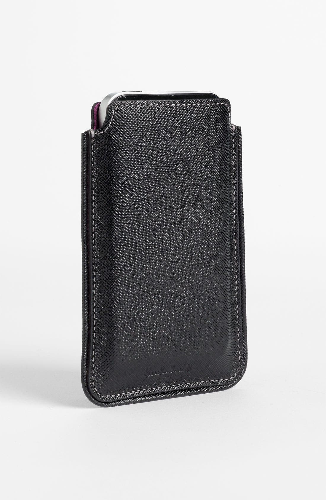 Alternate Image 1 Selected - Paul Smith Accessories Leather iPhone Case