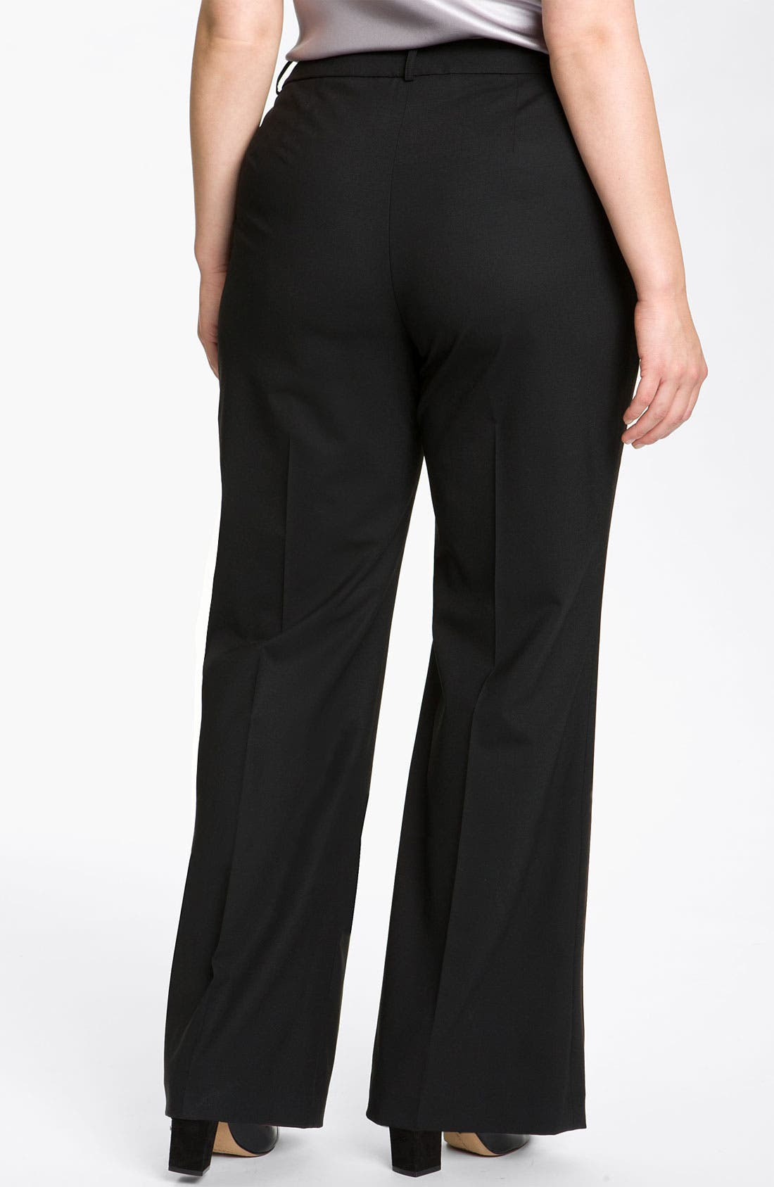 Alternate Image 2  - Lafayette 148 New York 'Delancy' Stretch Wool Trousers (Plus)