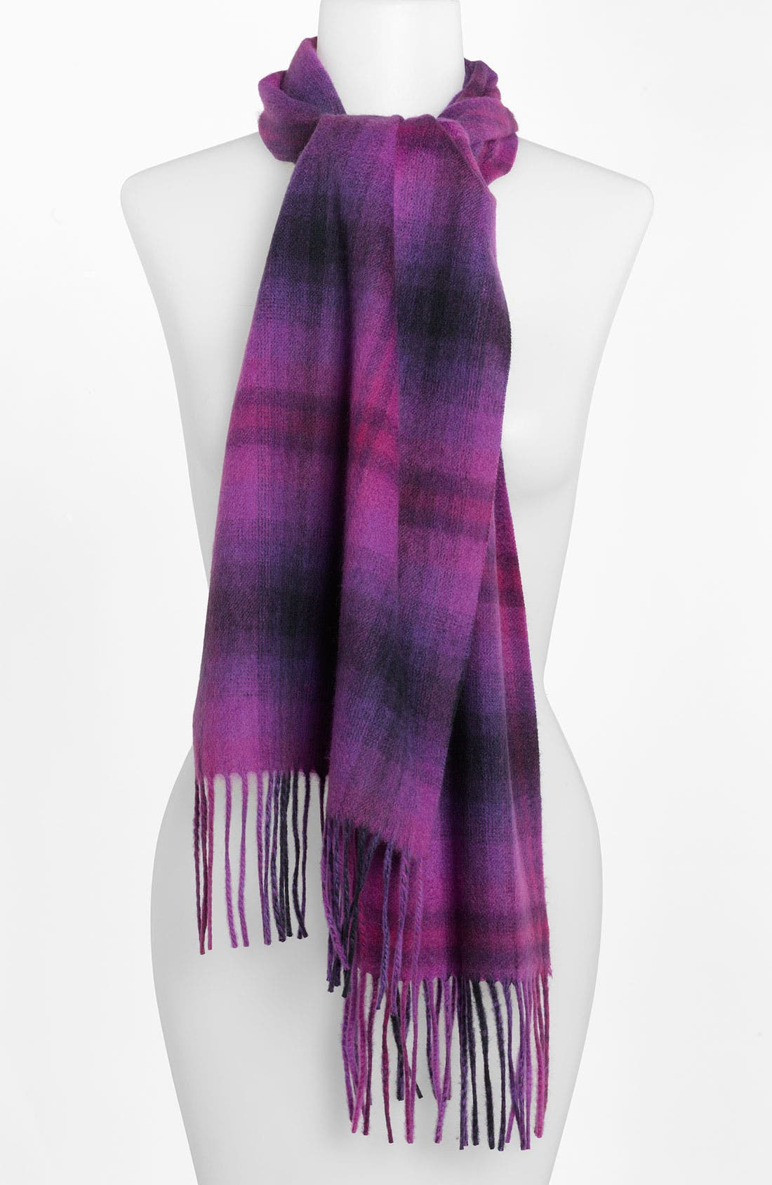 Alternate Image 1 Selected - Nordstrom Plaid Cashmere Muffler