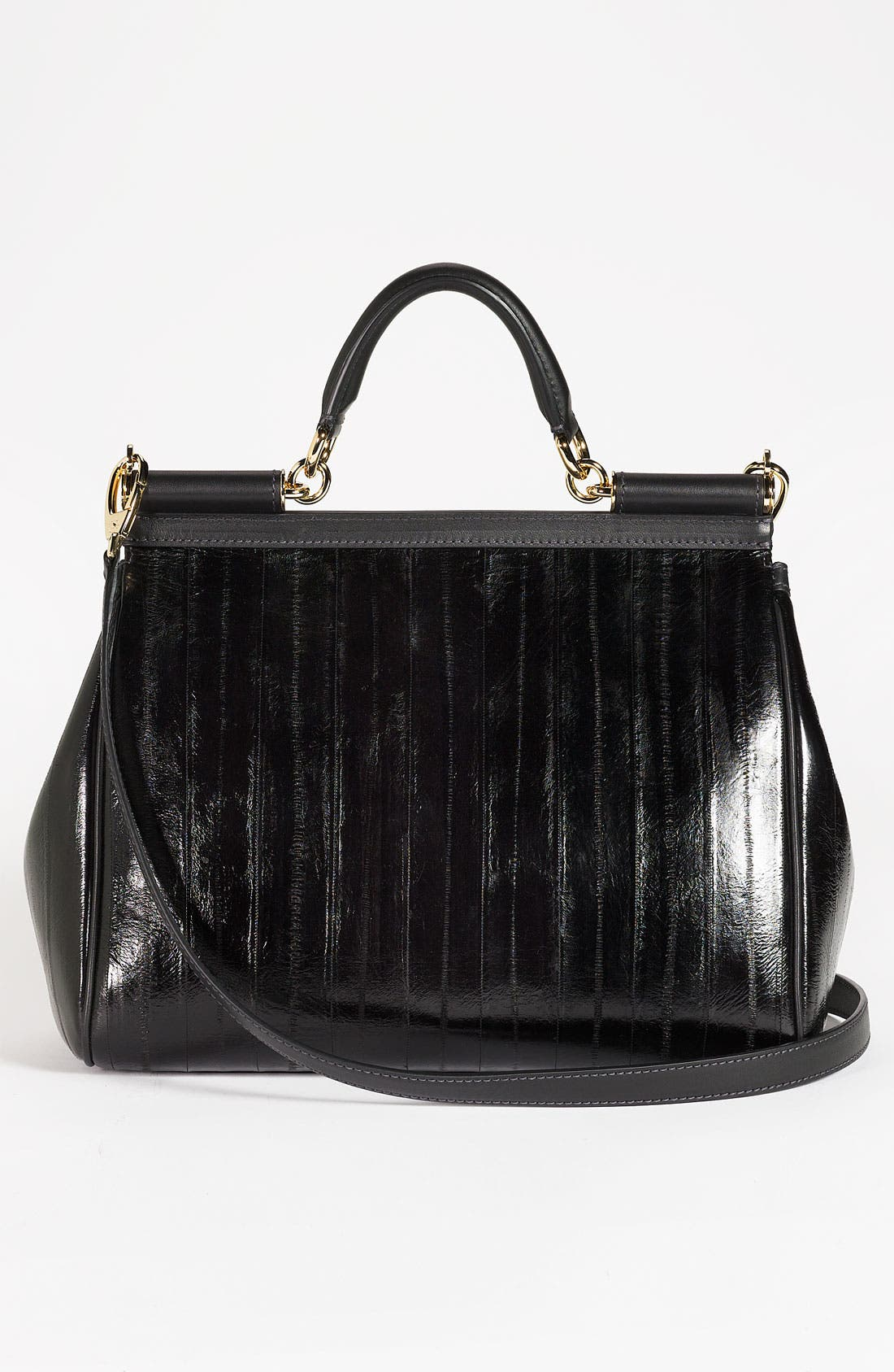 Alternate Image 4  - Dolce&Gabbana 'Miss Sicily' Eel & Leather Satchel