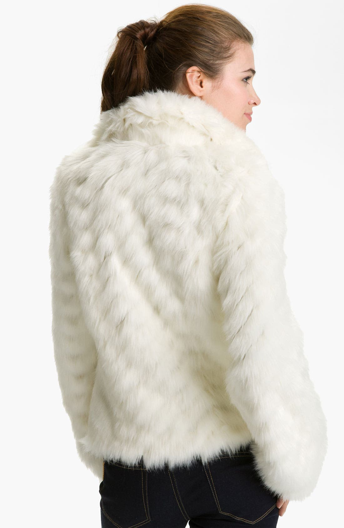 Alternate Image 2  - GUESS Grooved Faux Fur Toggle Jacket
