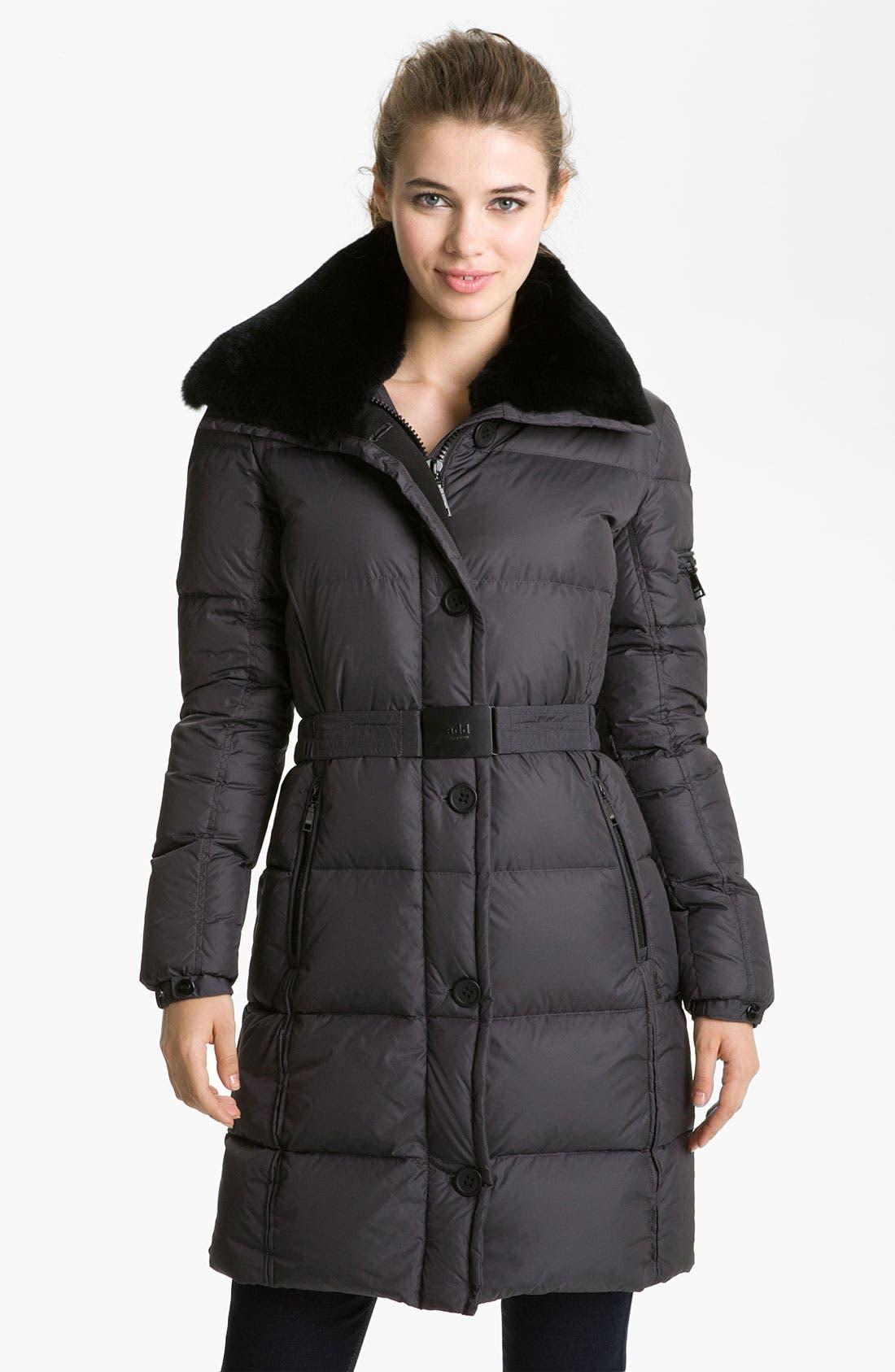 Main Image - Add Down Faux Fur Trim Coat