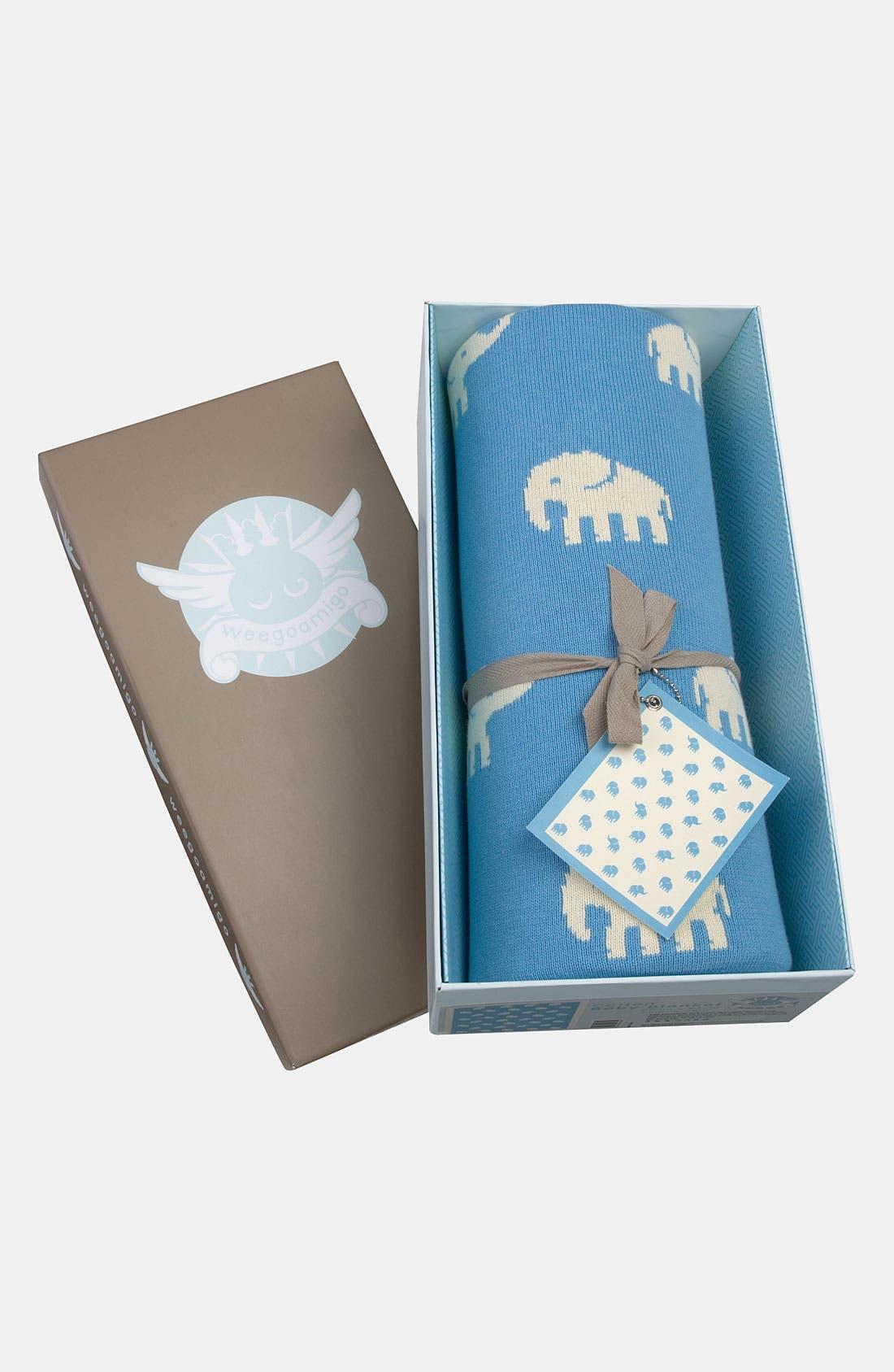 Alternate Image 1 Selected - weegoamigo 'Blue Stampede' Blanket