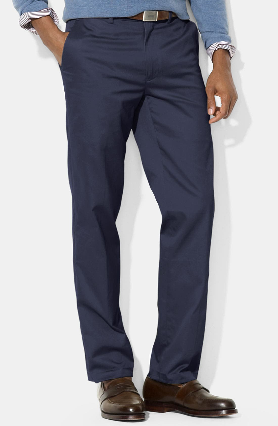 Alternate Image 1 Selected - Polo Ralph Lauren 'Preston' Brushed Cotton Pants