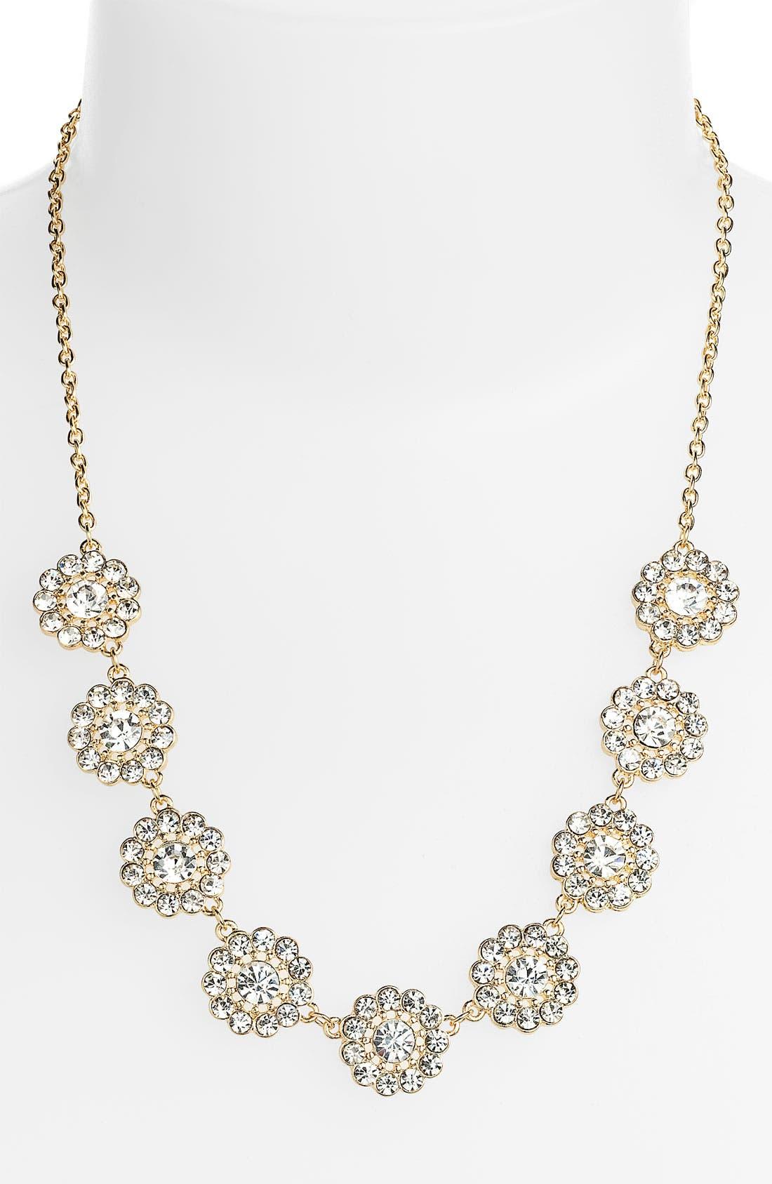 Alternate Image 1 Selected - Carole Floral Rhinestone Necklace