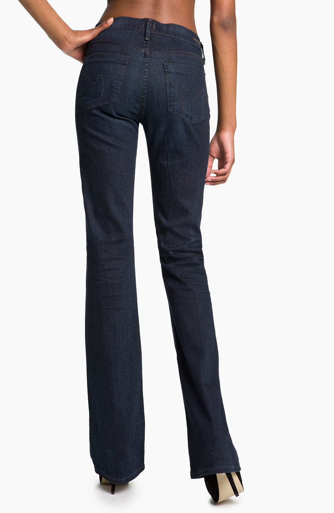 Alternate Image 2  - Citizens of Humanity 'Amber' Mid Rise Bootcut Stretch Jeans (Dark Blue)